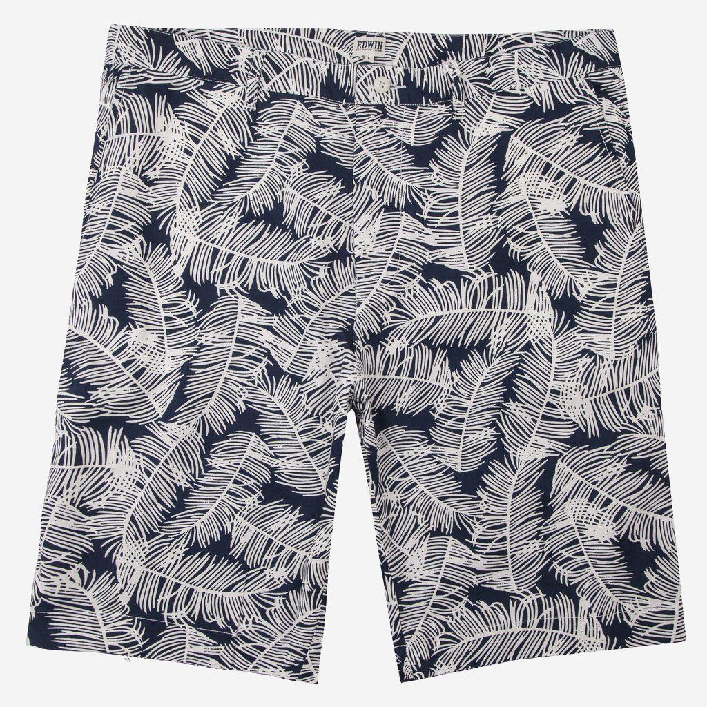Edwin Rail Bermuda Shorts Palm Print
