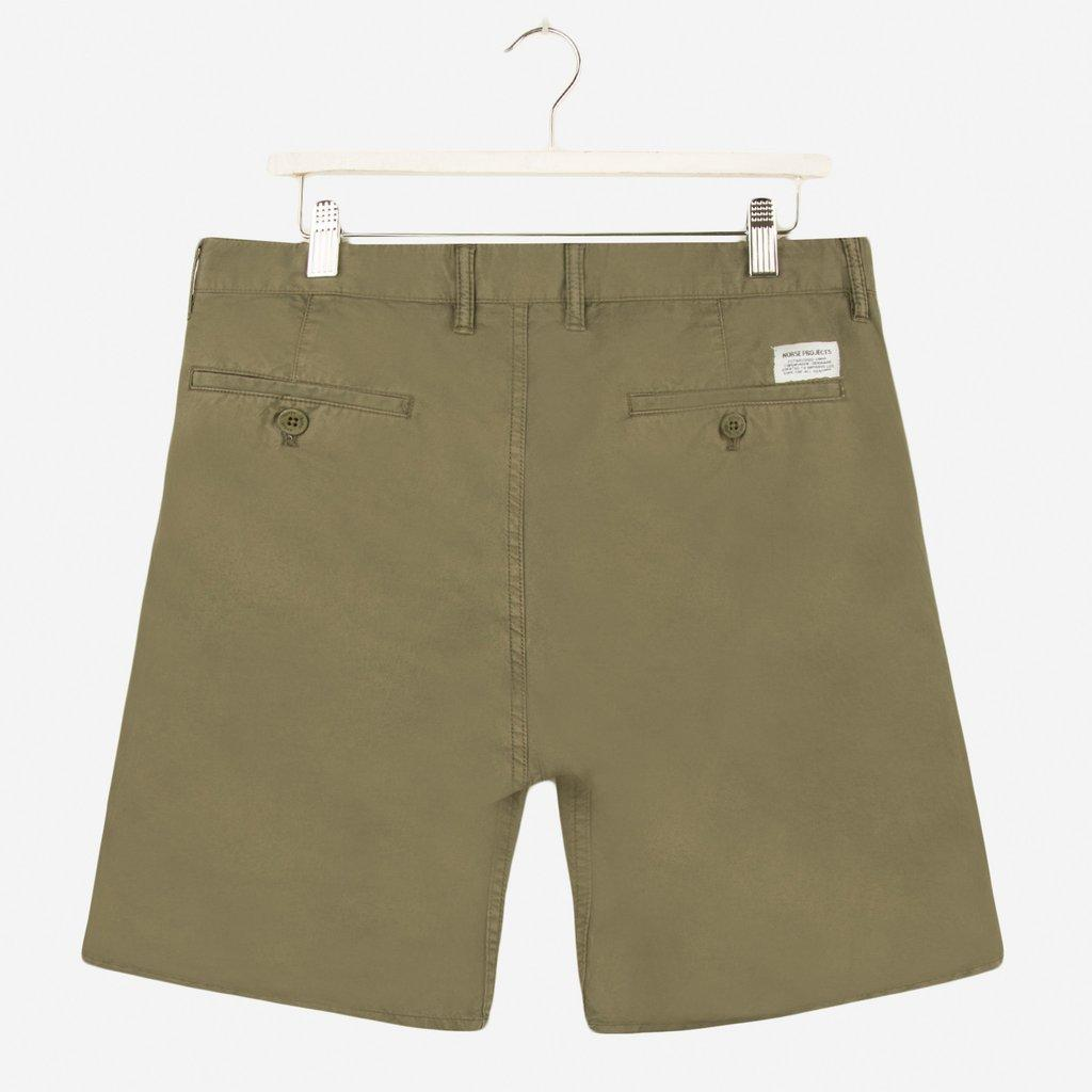 Norse Projects Aros Slim Light Twill Short Dried Olive