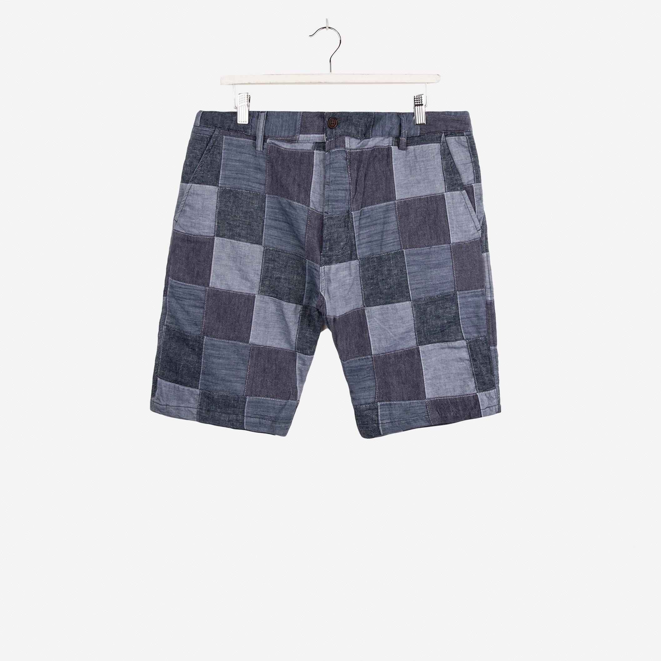 Universal Works Chambray Patchwork Deck Short