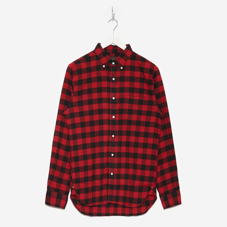 Beams Plus Button Down Flannel Check Shirt
