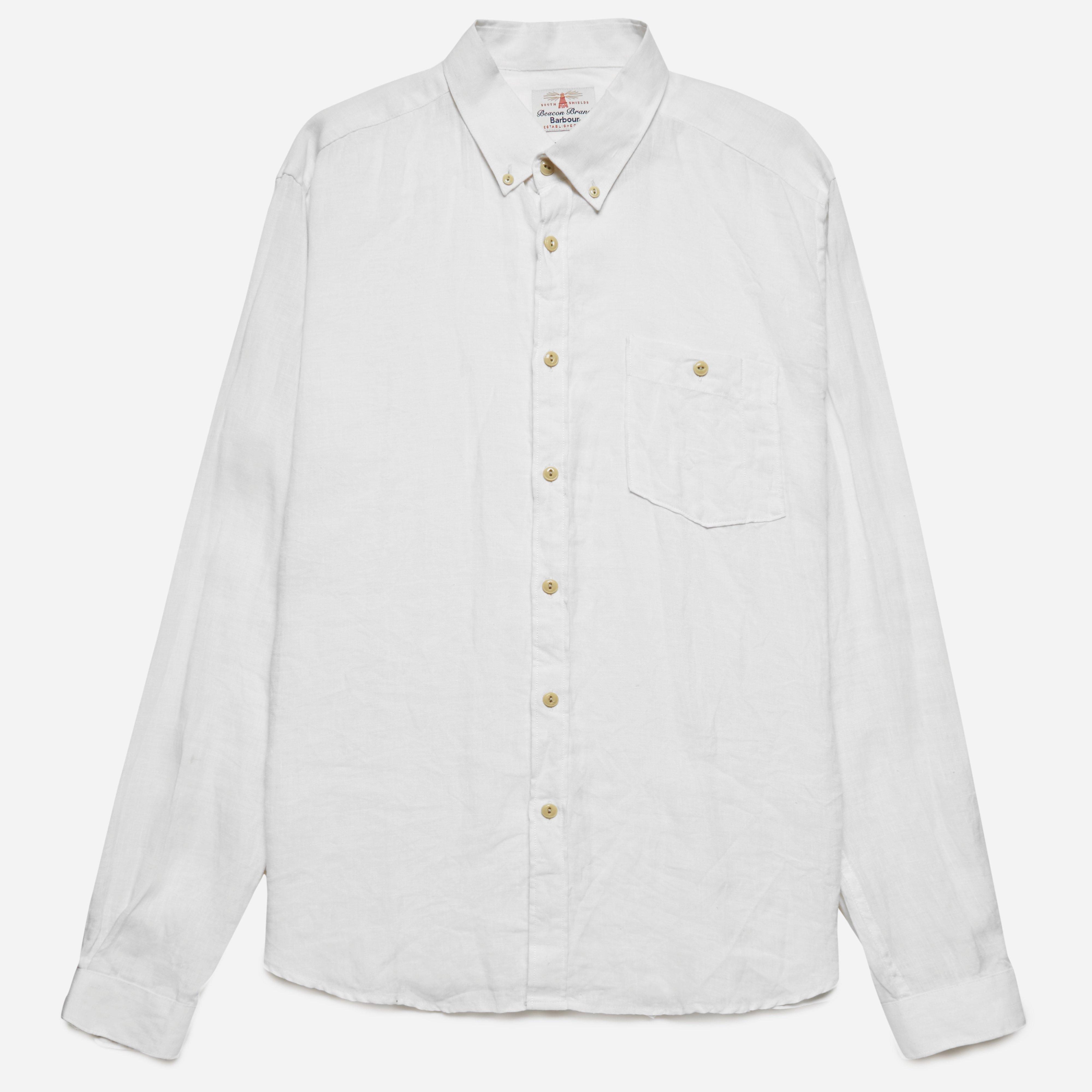 Barbour Edward Linen Shirt White