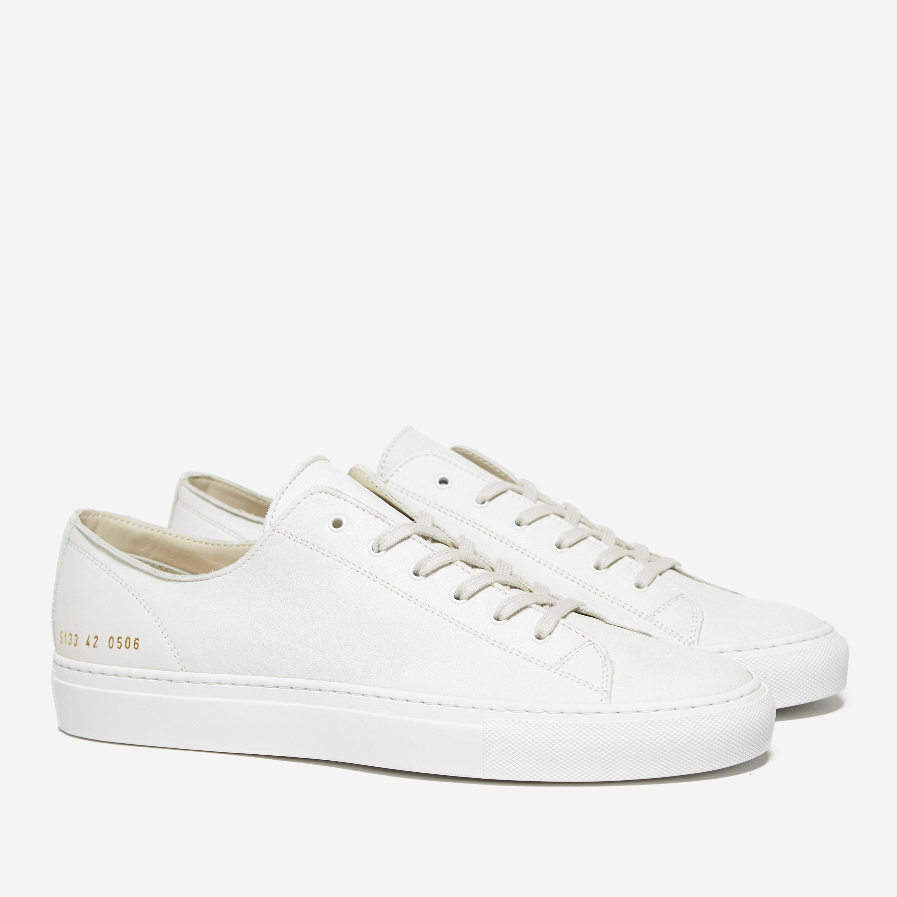 Common Projects Tournament Low 5133 Leather White