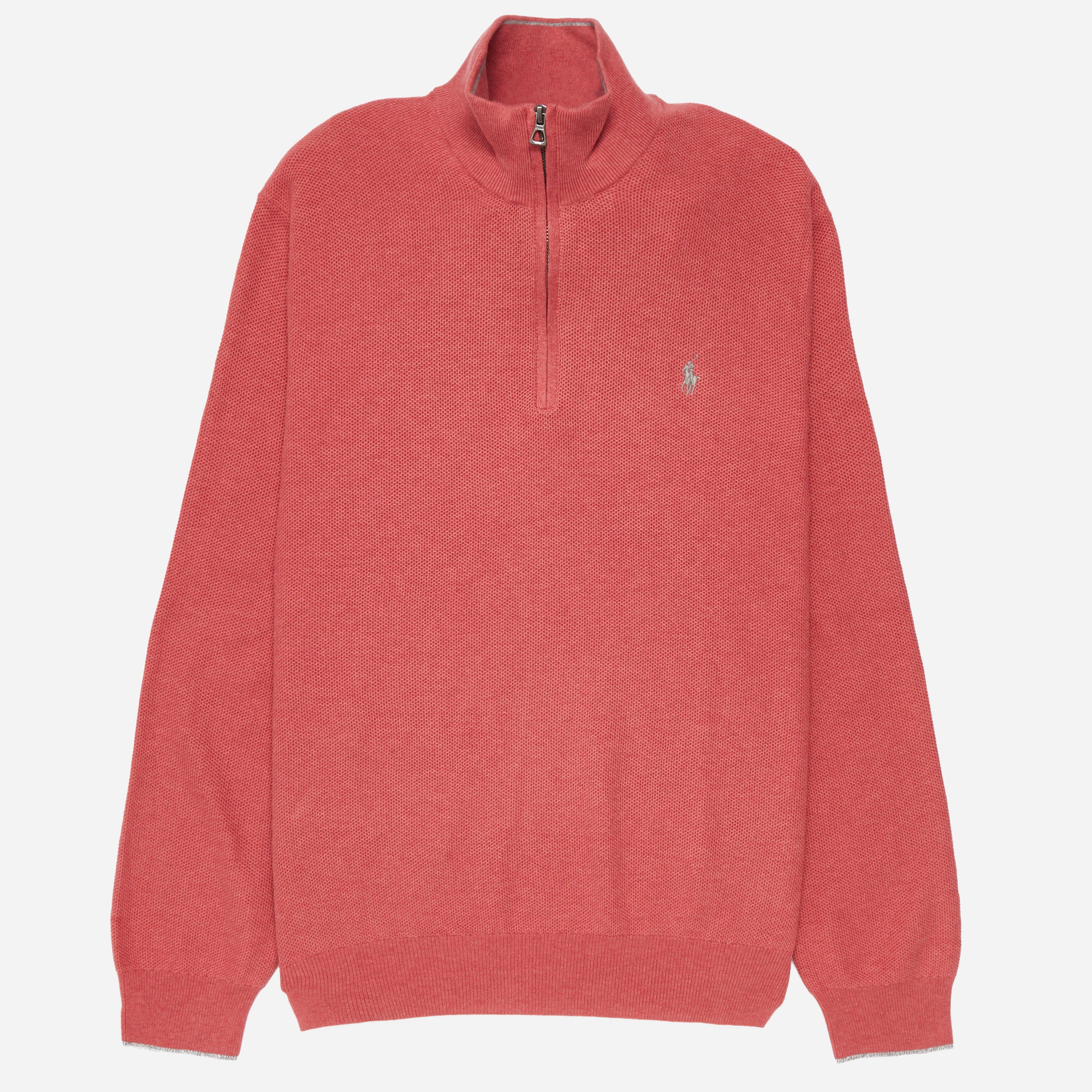 Polo Ralph Lauren Mesh Quarter Zip Sweatshirt