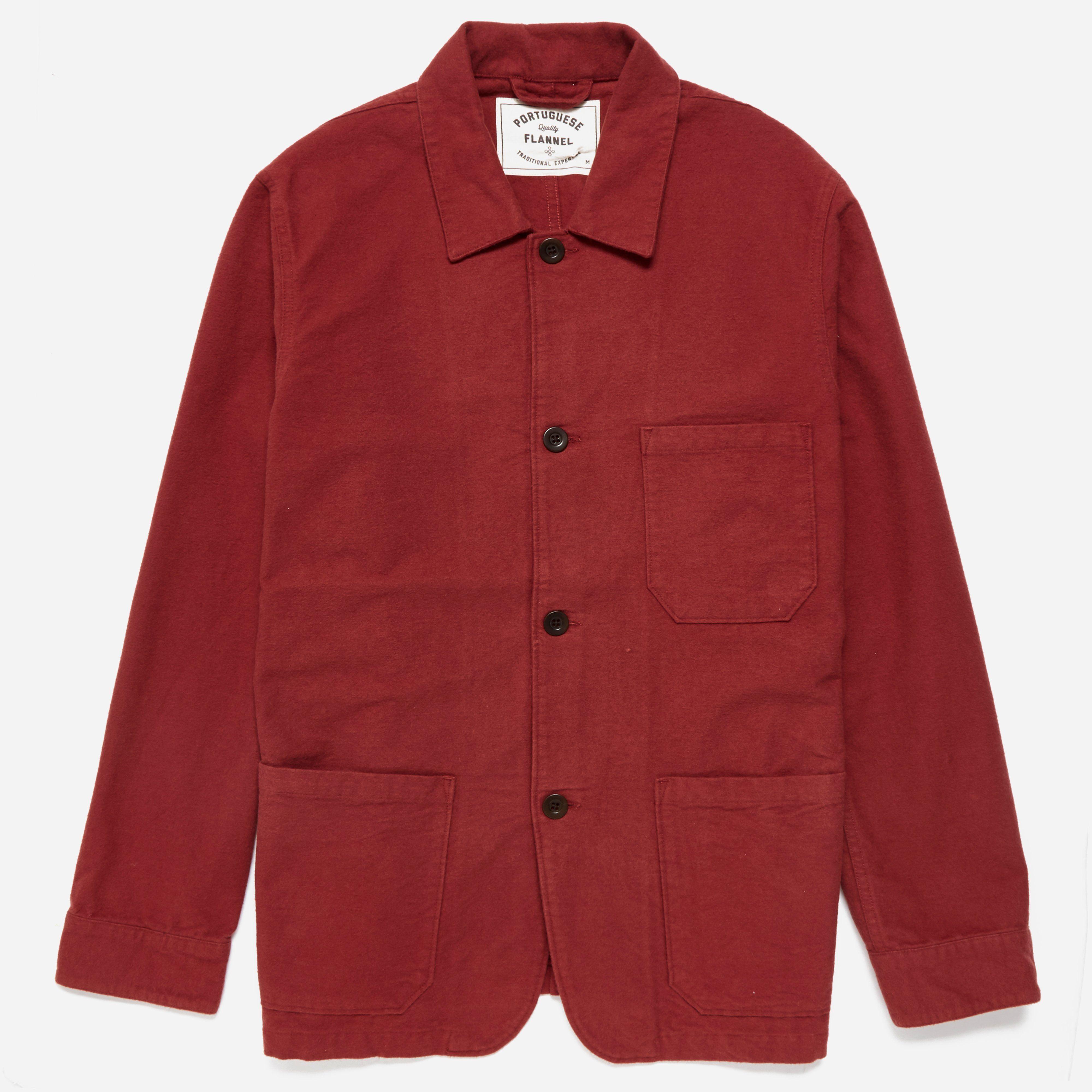 Portuguese Flannel Pinheiro Bordeaux Jacket