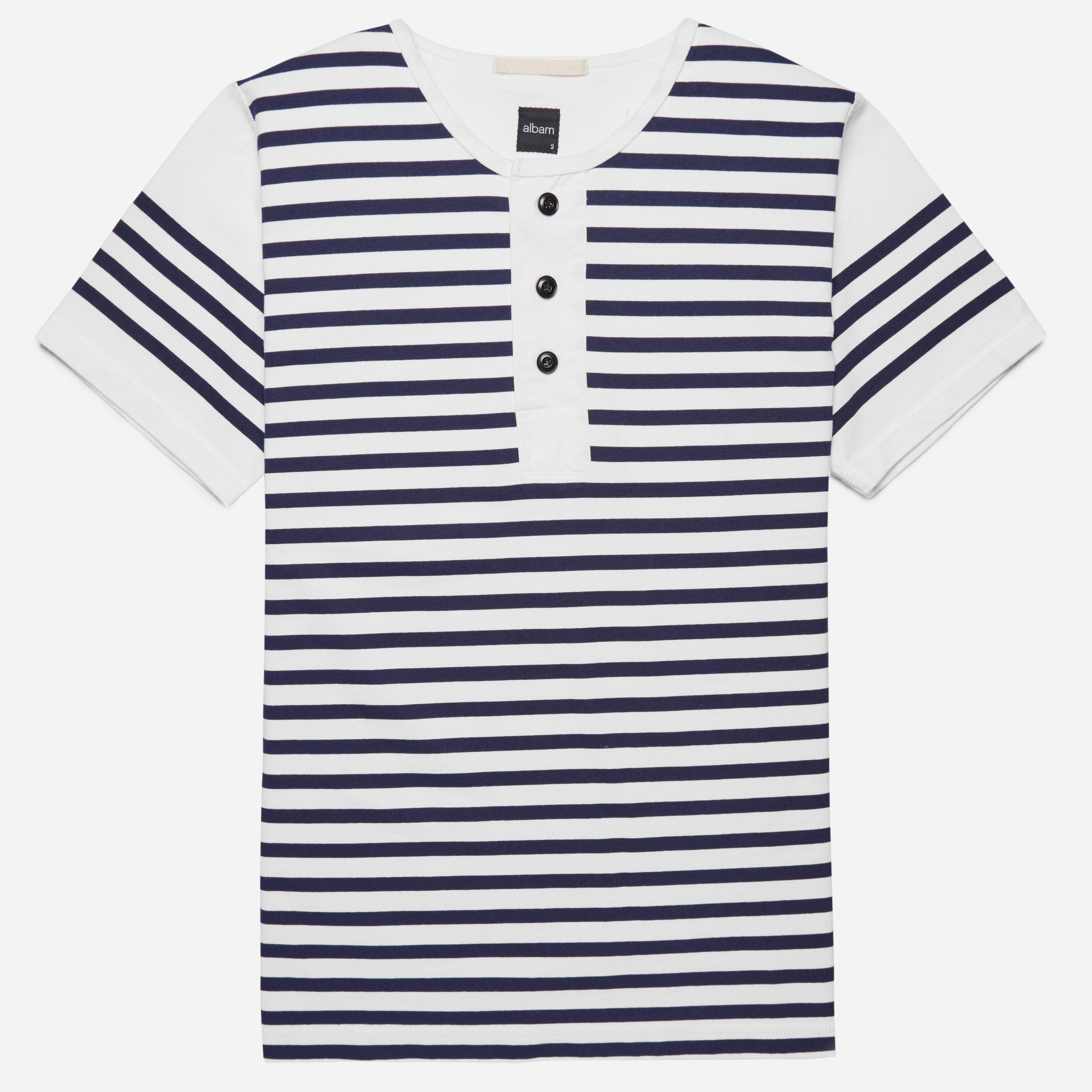 Albam Print Stripe Henley T-shirt