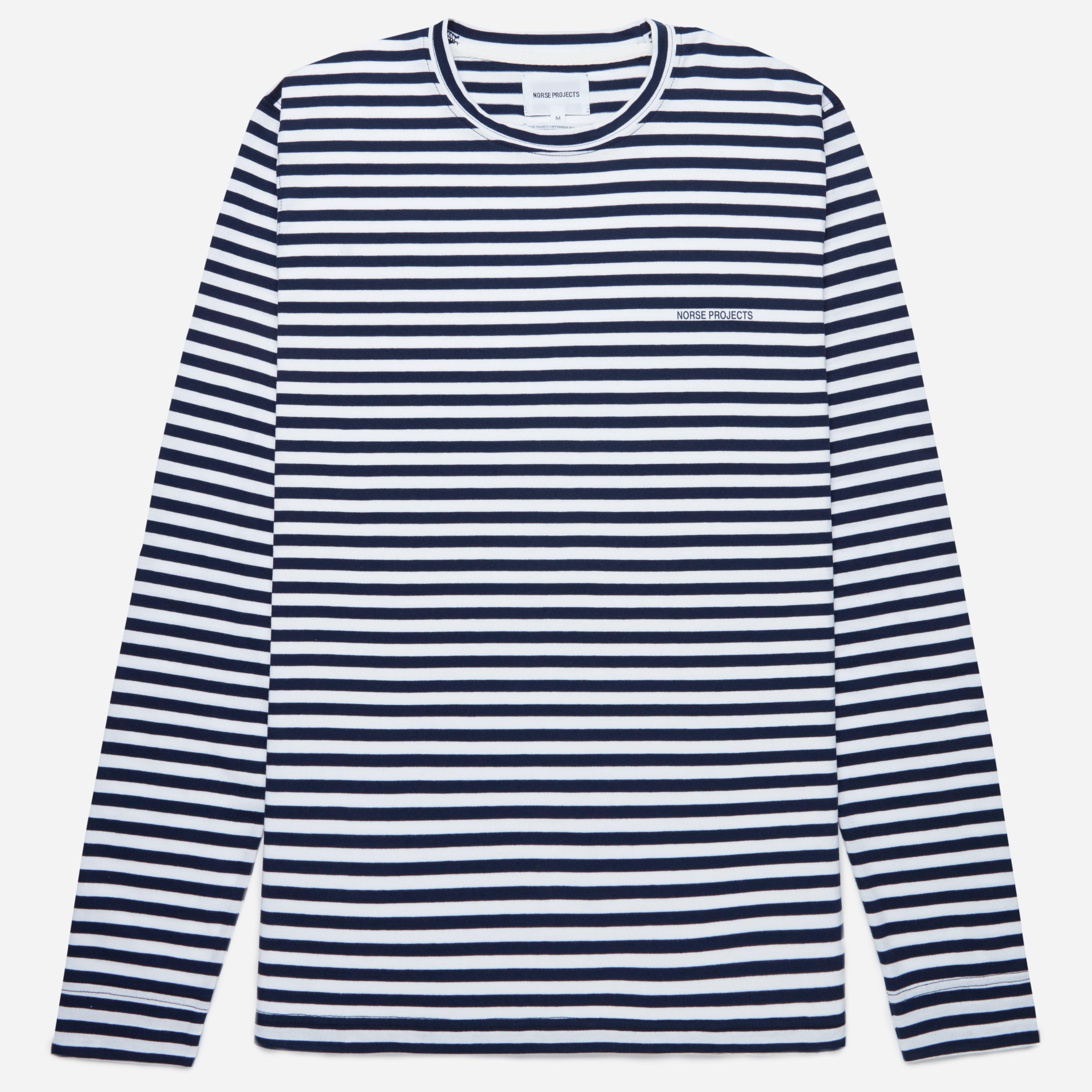 Norse Projects James Logo Stripe LS T-shirt