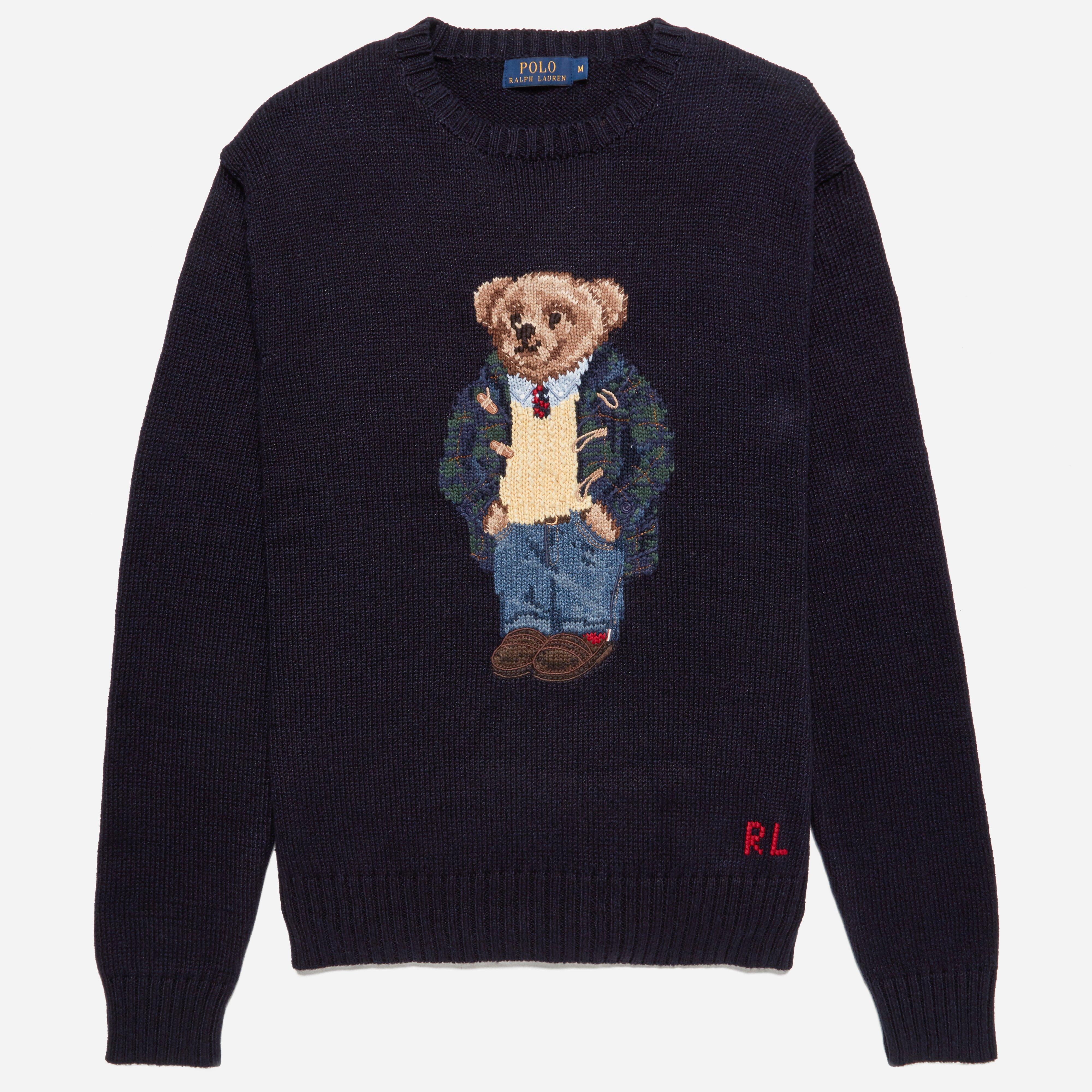 Polo Ralph Lauren Navy Preppy Bear Knit