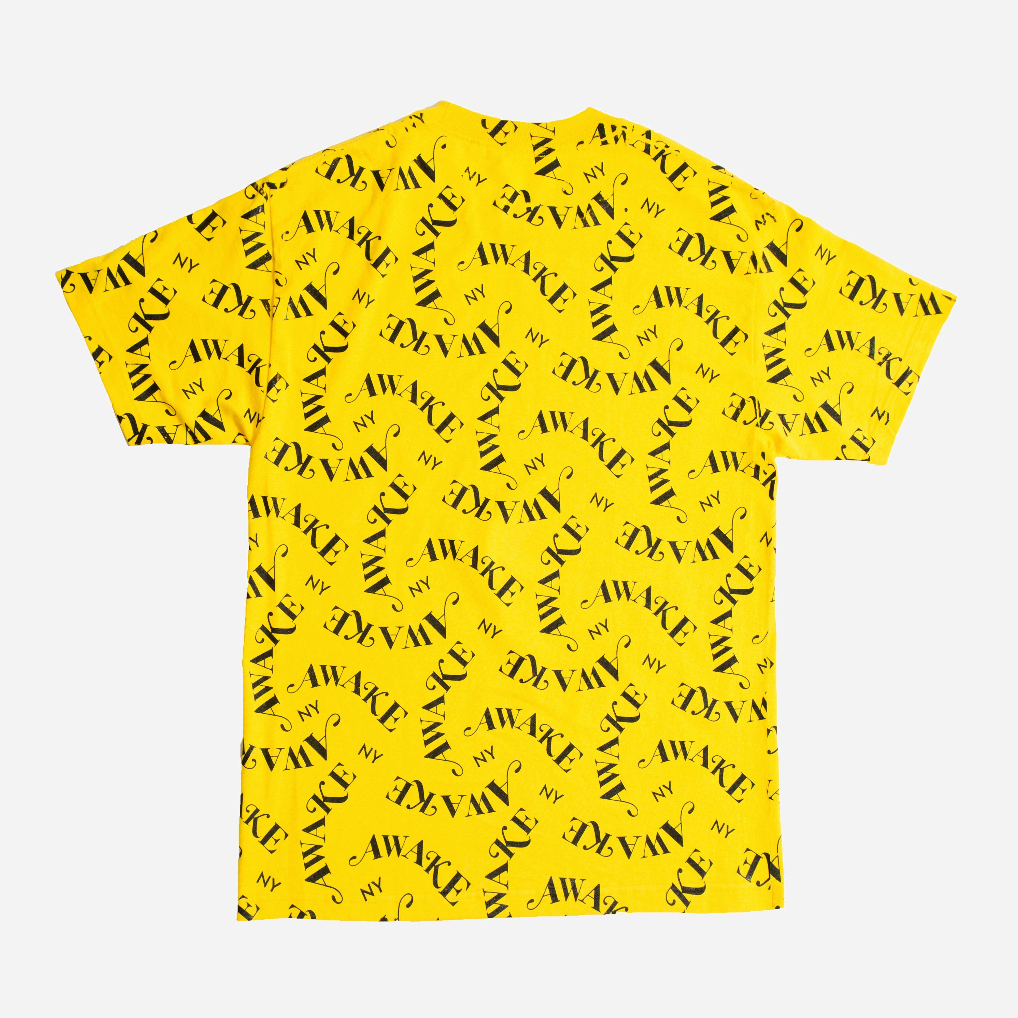 Awake NY All Over Print Logo T-shirt