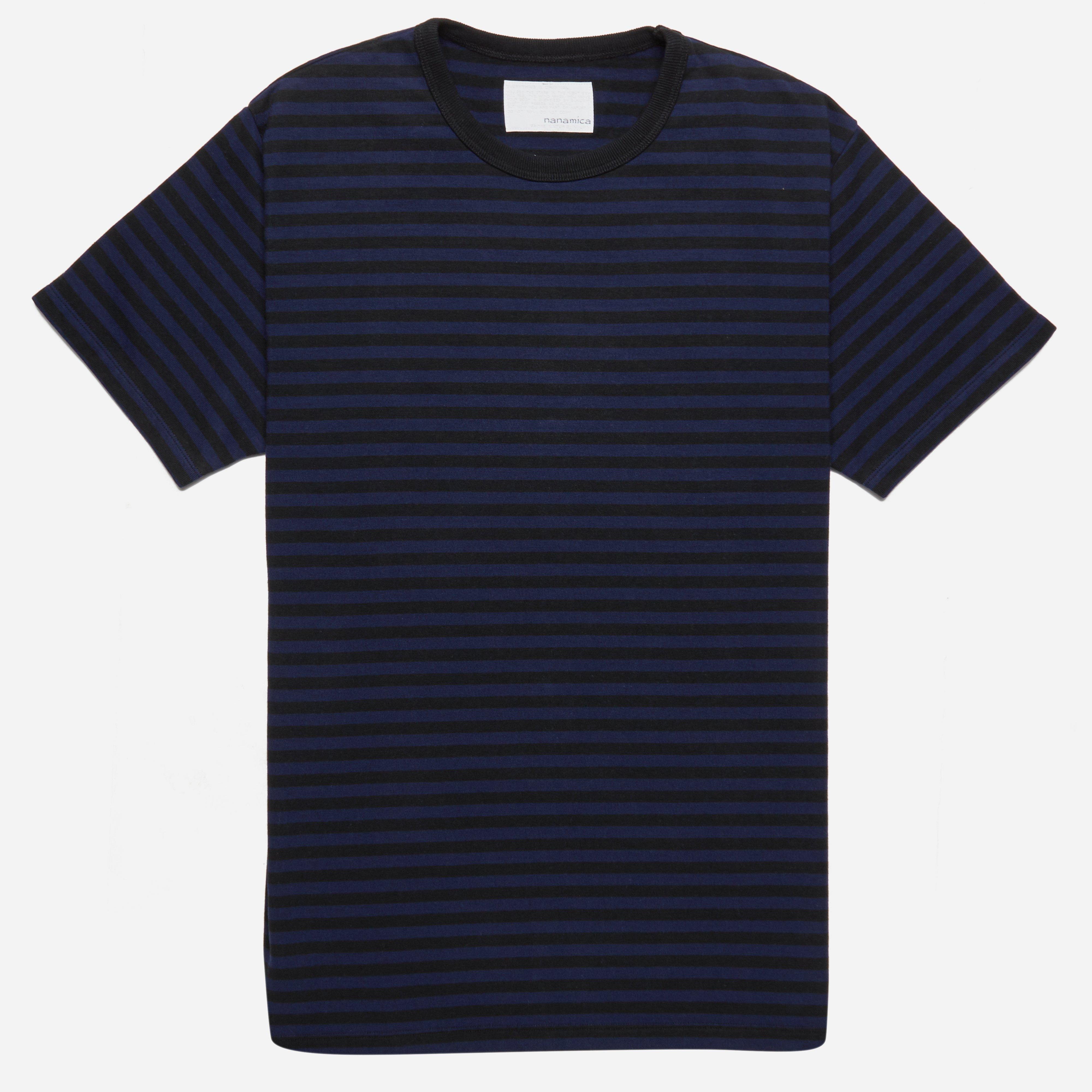 Nanamica Coolmax Stripe Jersey T-shirt