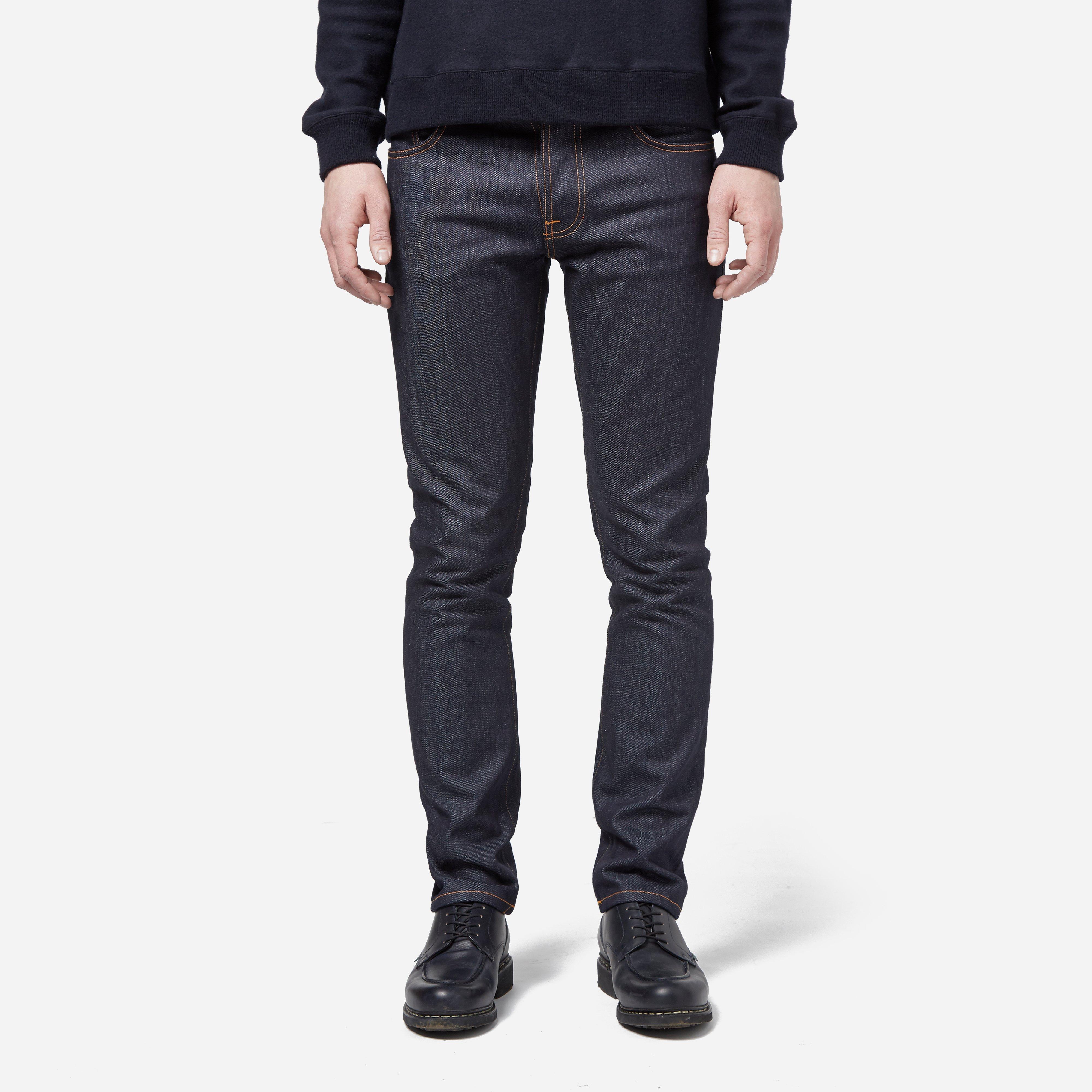 Nudie Jeans Grim Tim - Dry Open Navy Jean