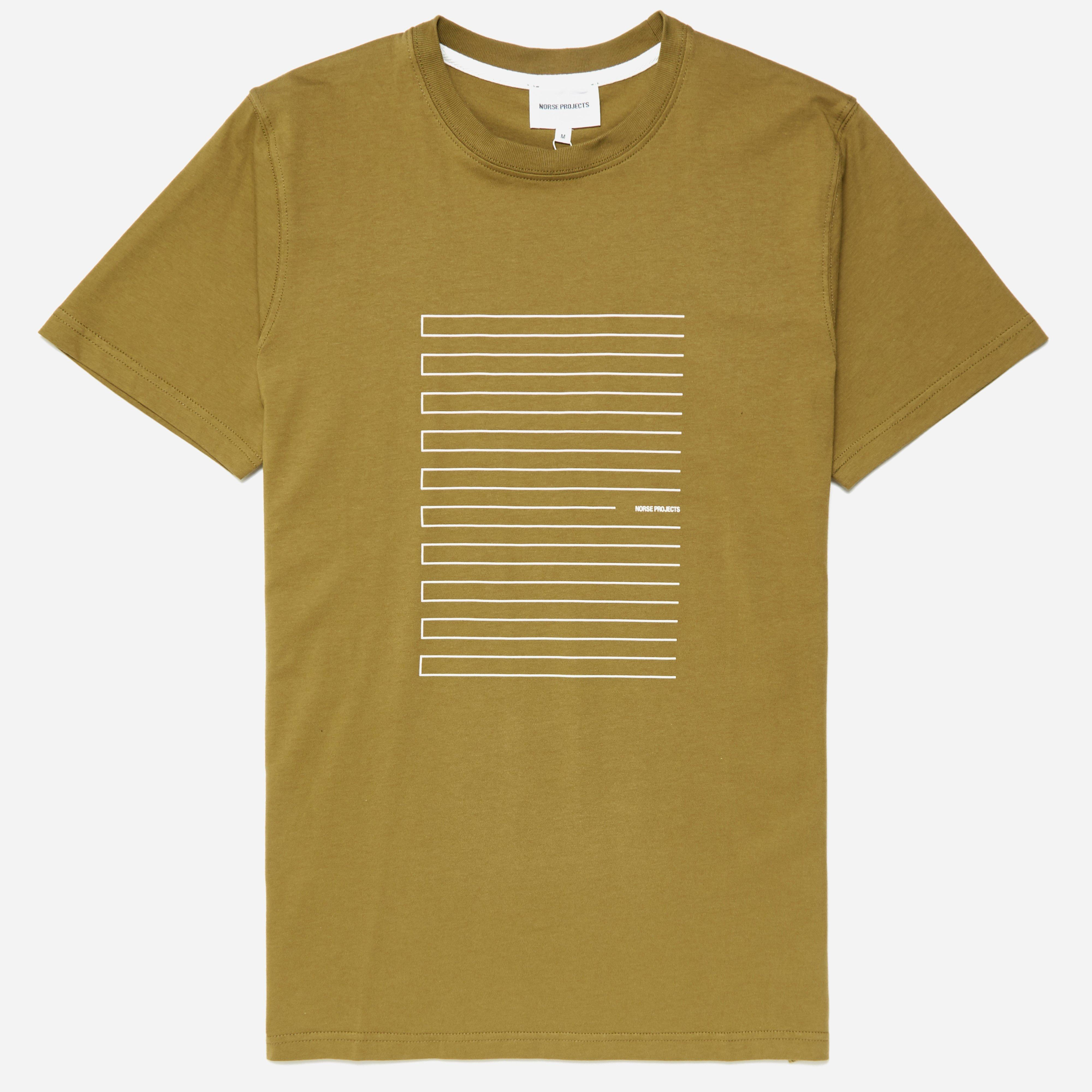 Norse Projects Niels Stripe Screen Logo T-shirt