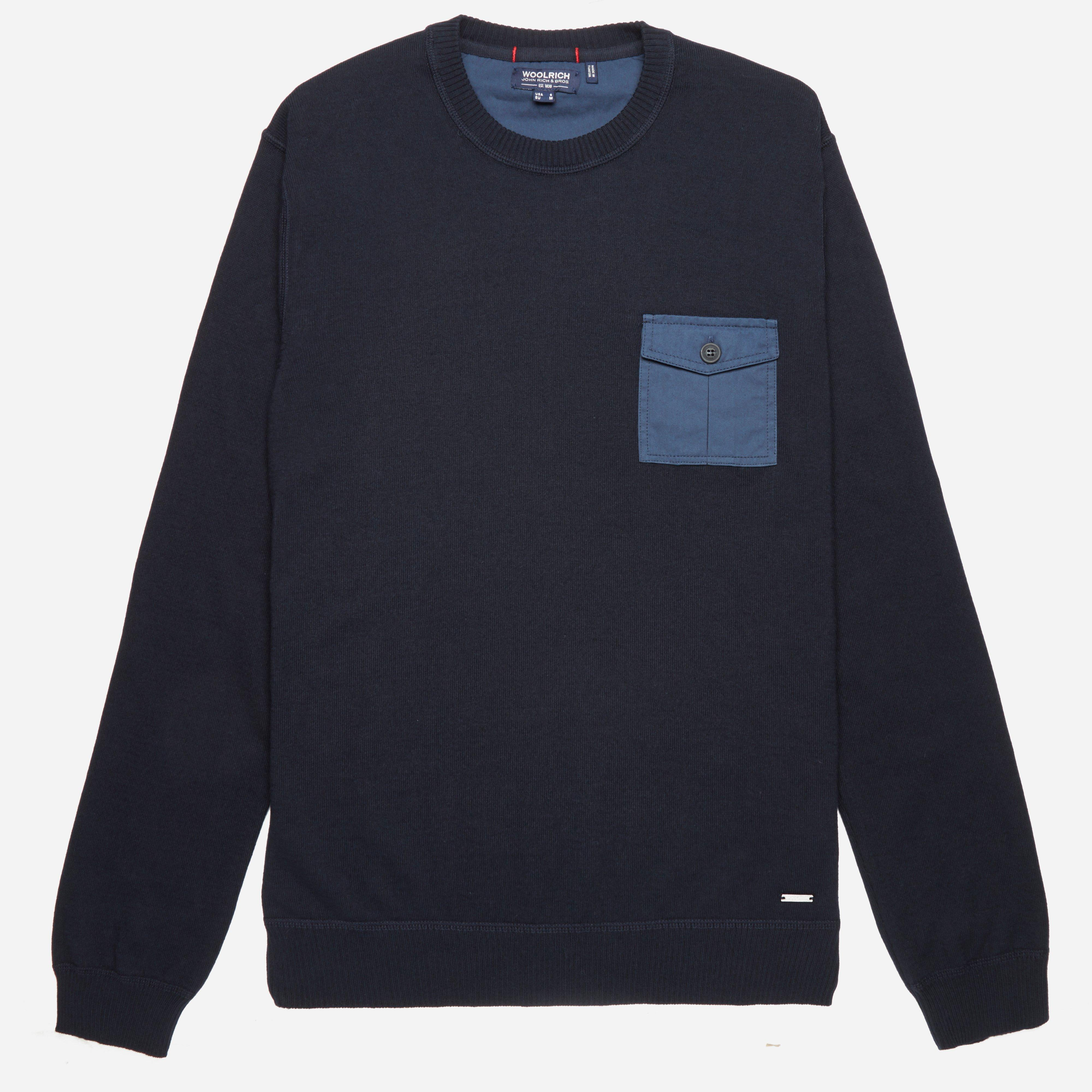 Woolrich Military Cotton Crewneck