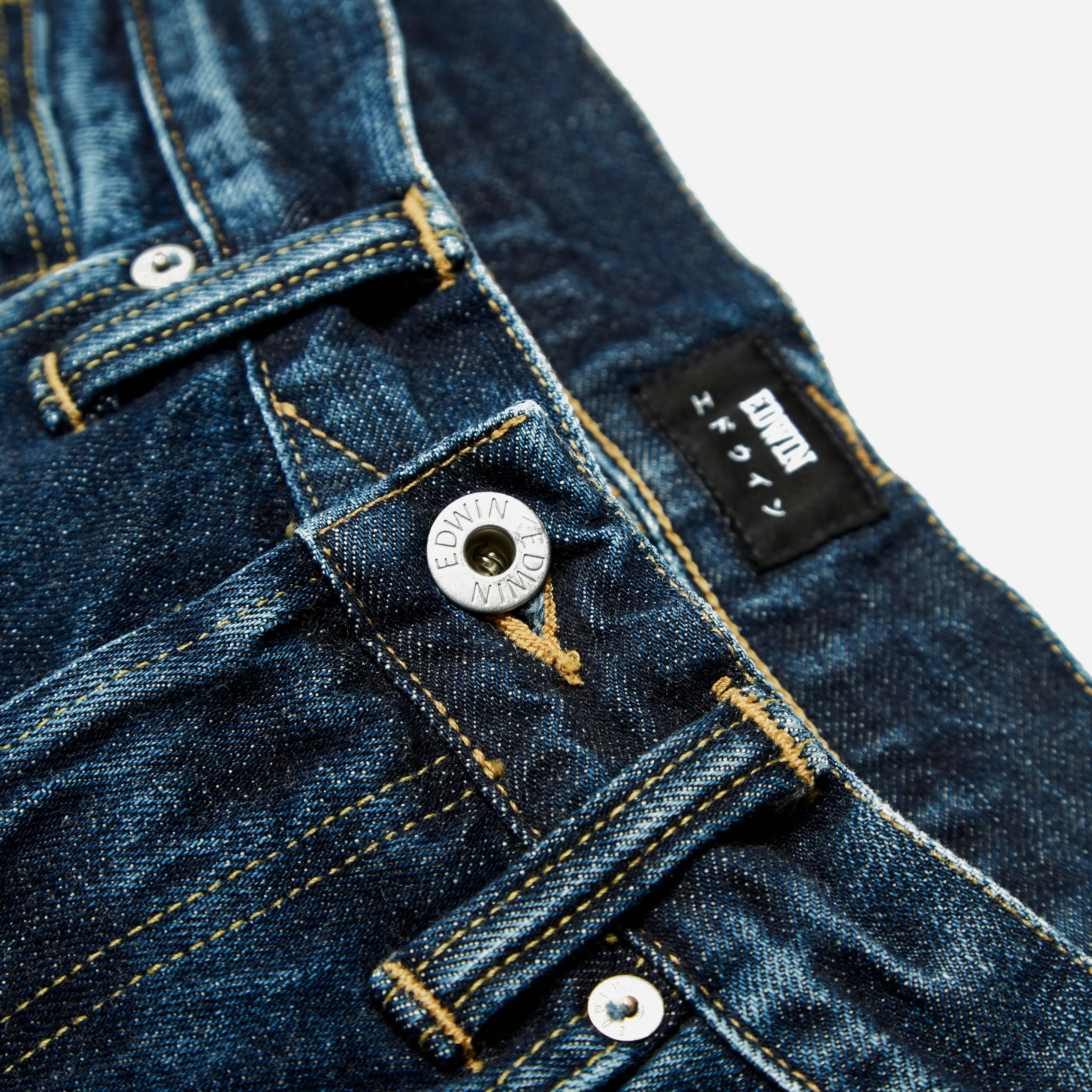 Edwin ED-55 Red Listed Selvage Contrast Clean Wash