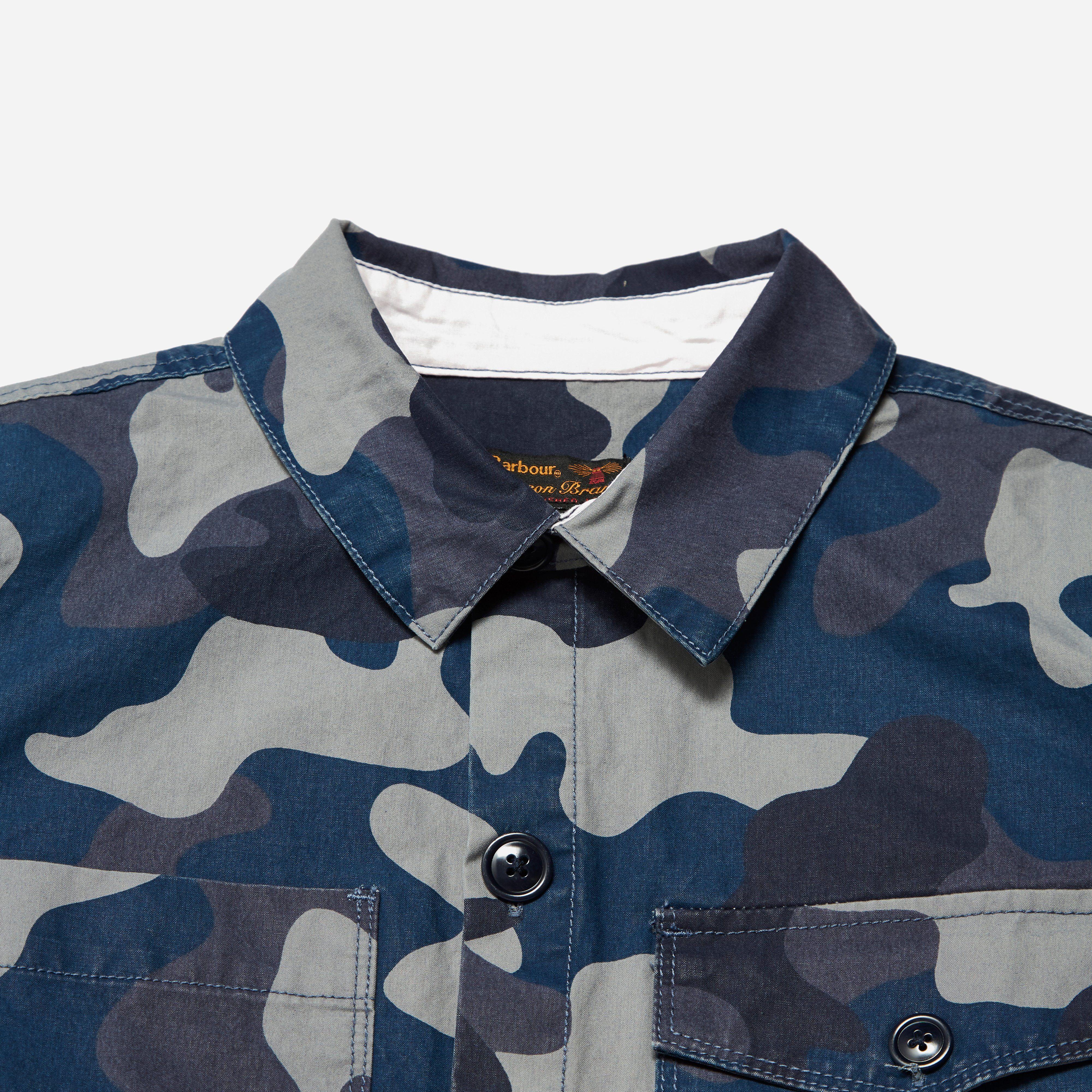 Barbour Camo Button Thru Overshirt