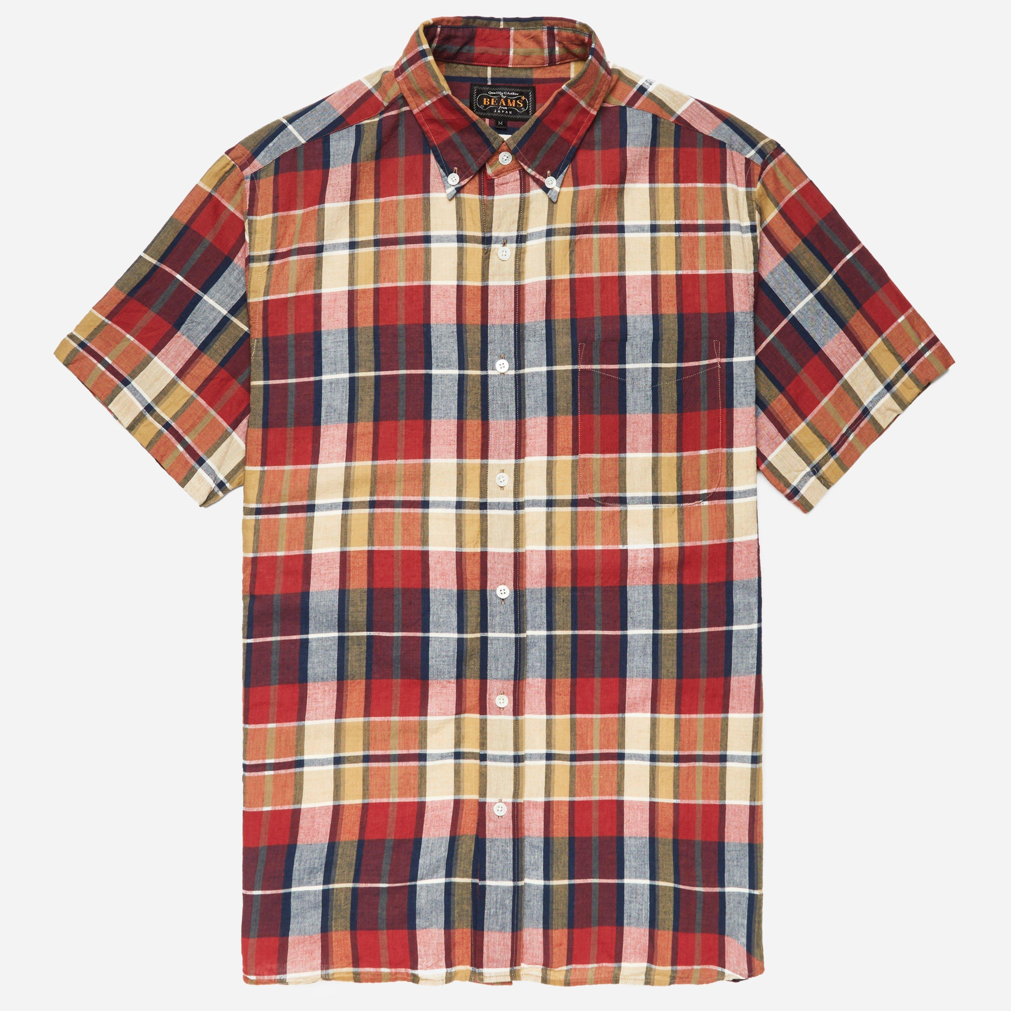 Beams Plus BD Madras SS Shirt