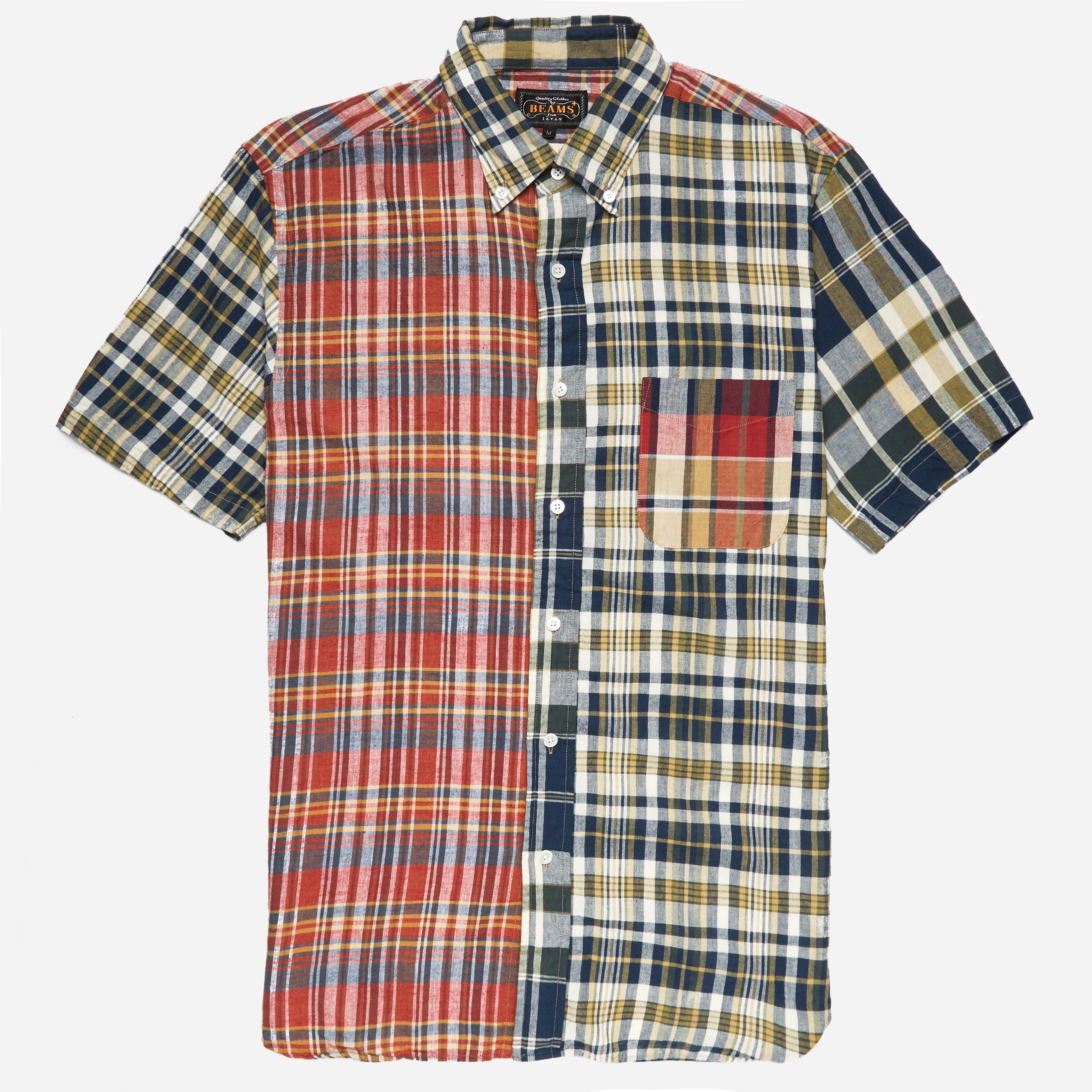 Beams Plus BD Madras Crazy SS Shirt