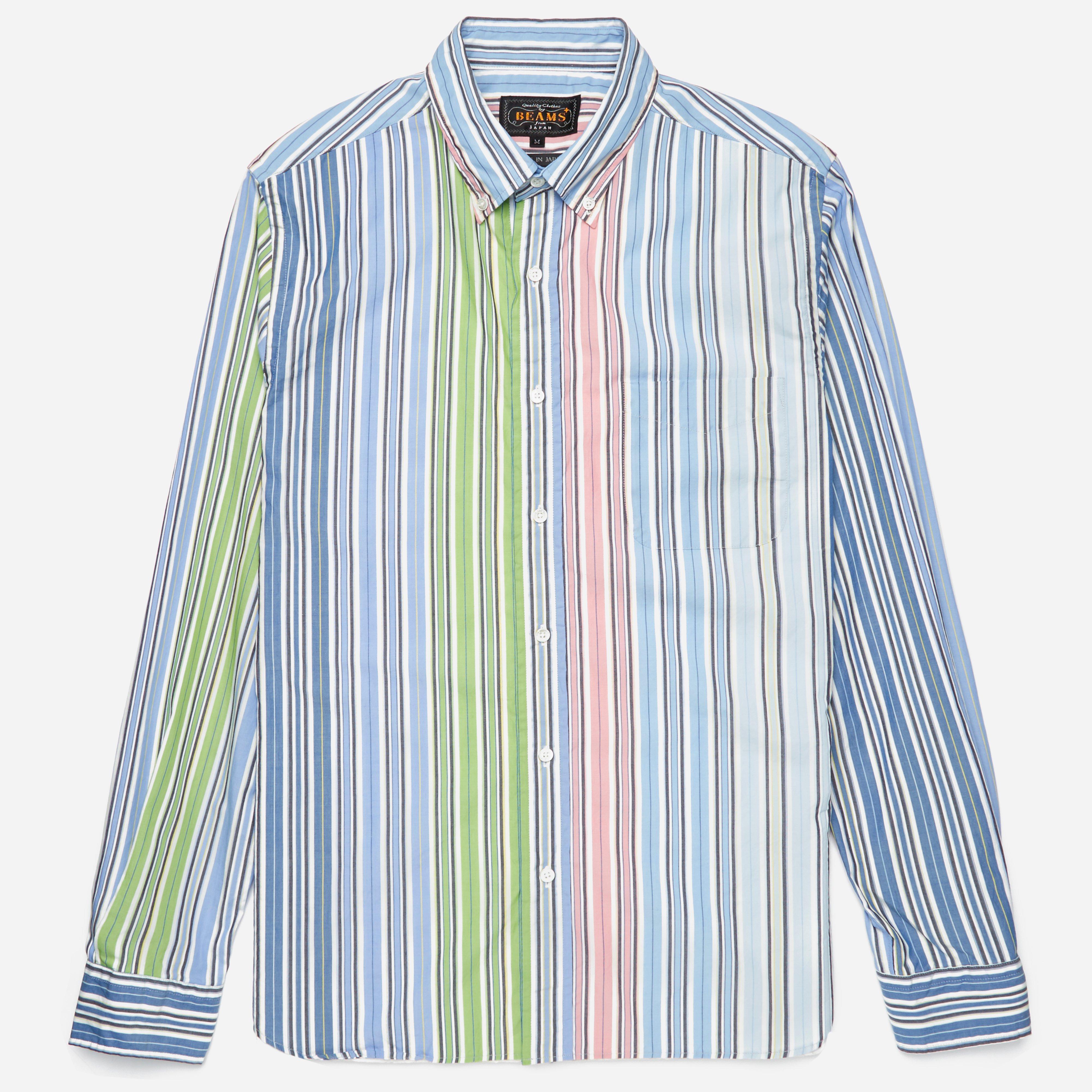 Beams Plus BD Wide Stripe LS Shirt