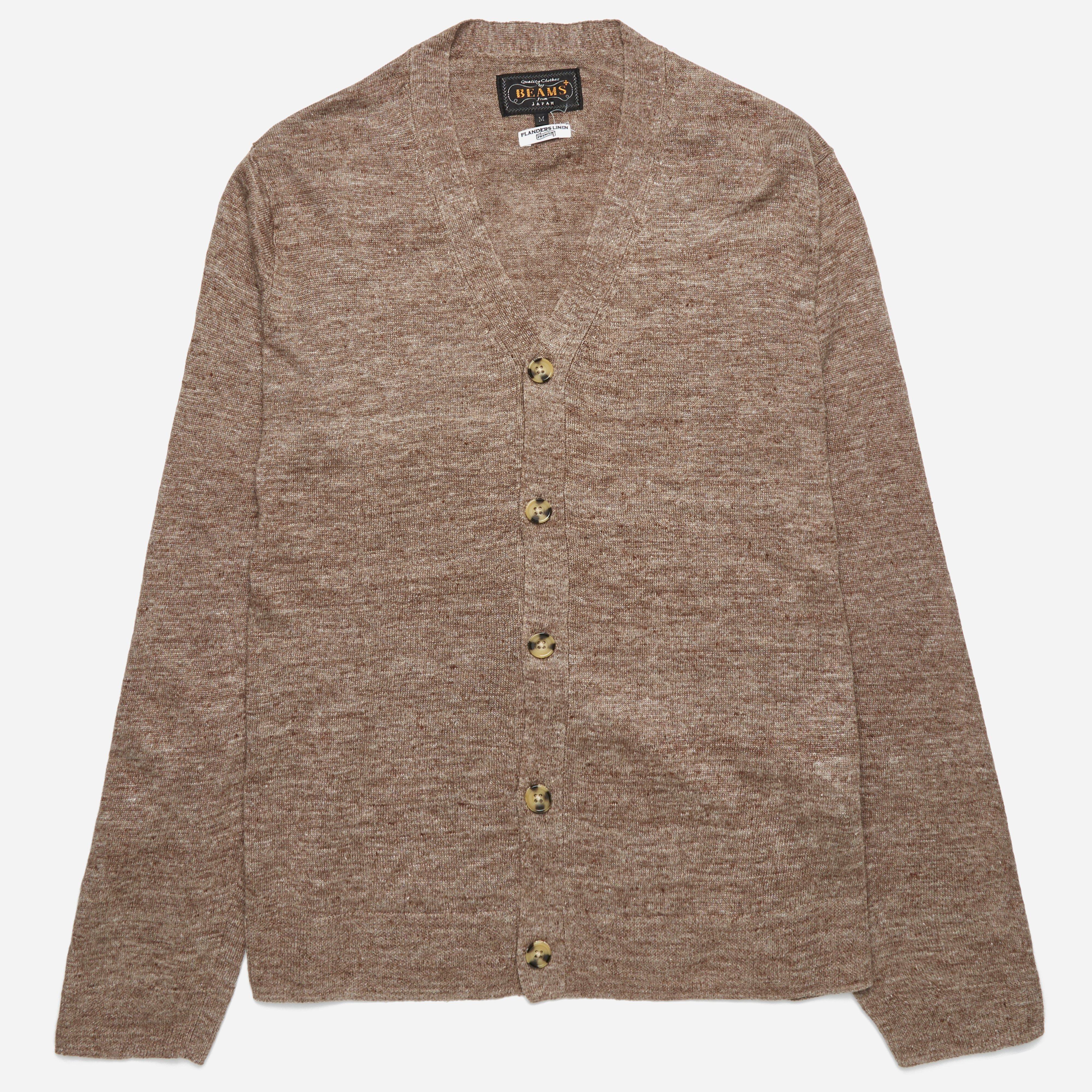 Beams Plus Linen V Cardigan