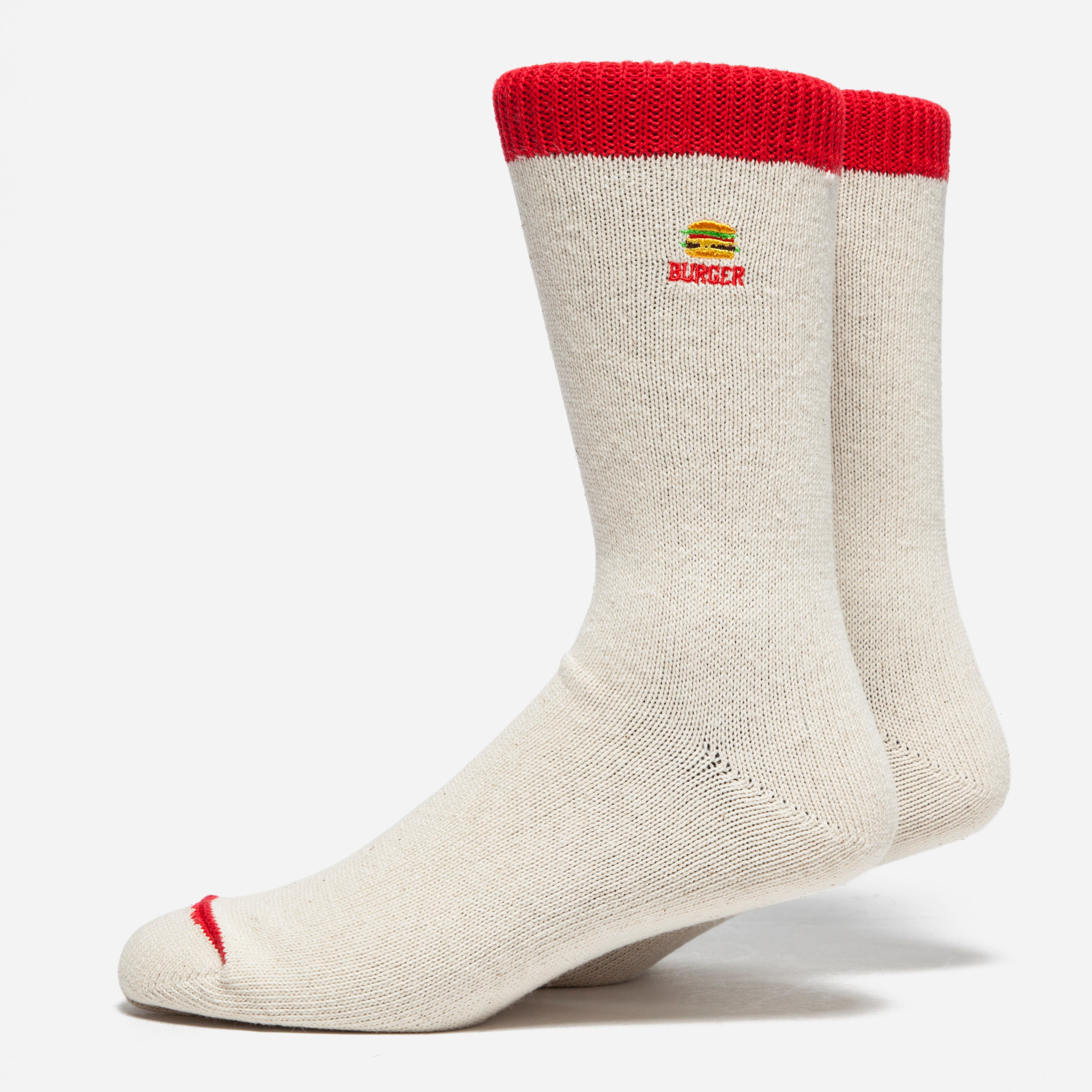 Anonymous Ism Embroidered Burger Socks