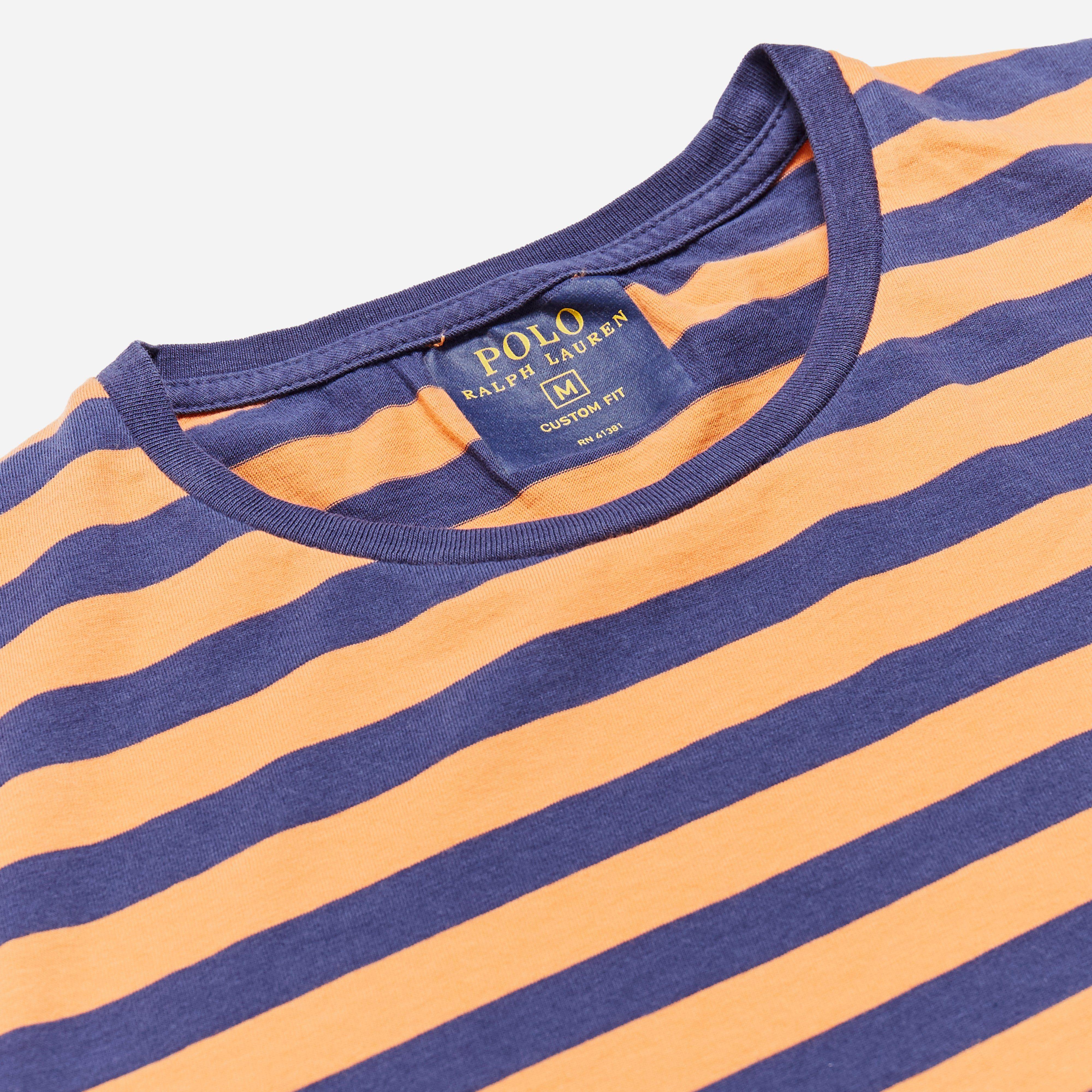 Polo Ralph Lauren Custom Fit Striped Pocket T-shirt