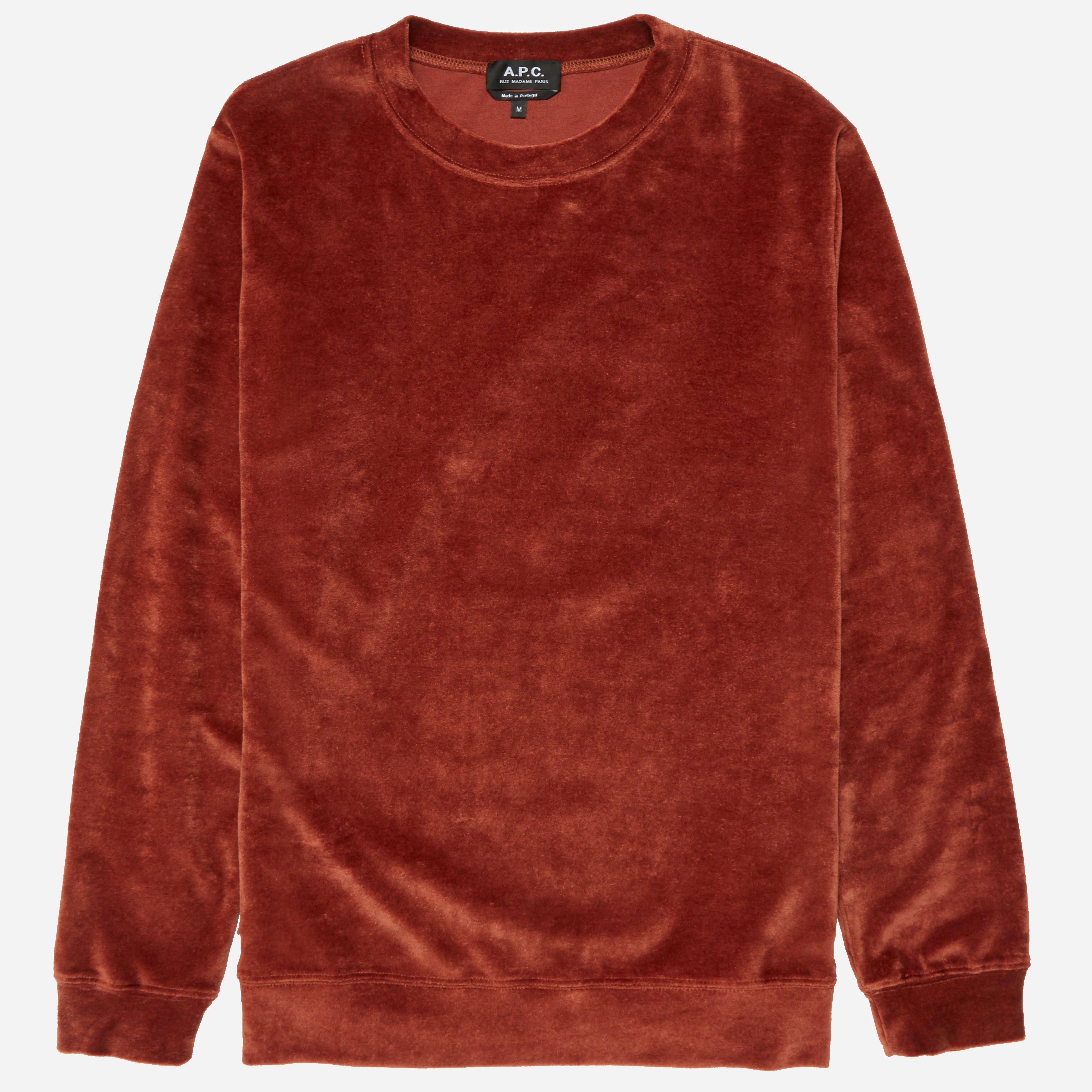 A.P.C. Jeremie Velvet Sweatshirt