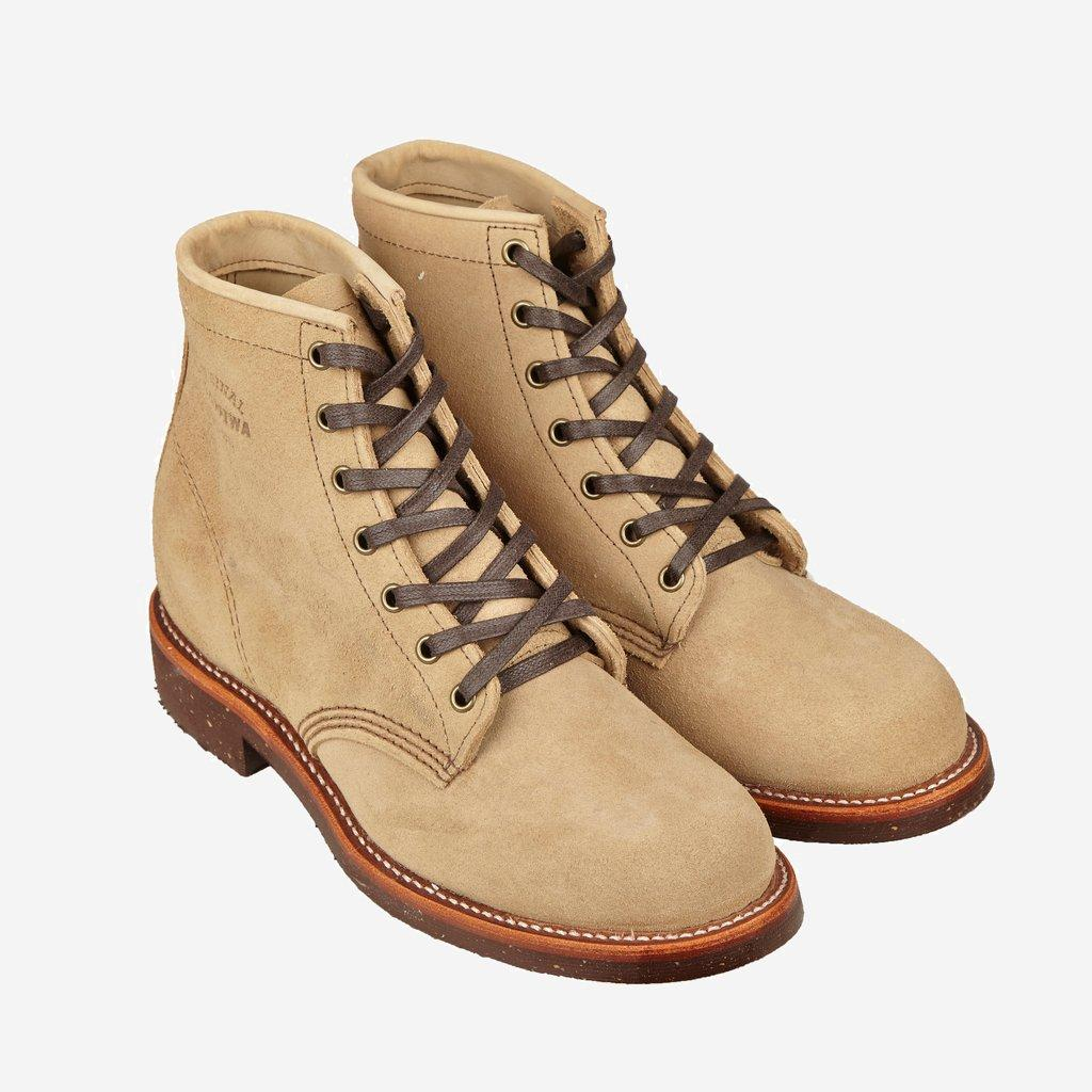 "Chippewa 6"" Sand Suede Service Boot"