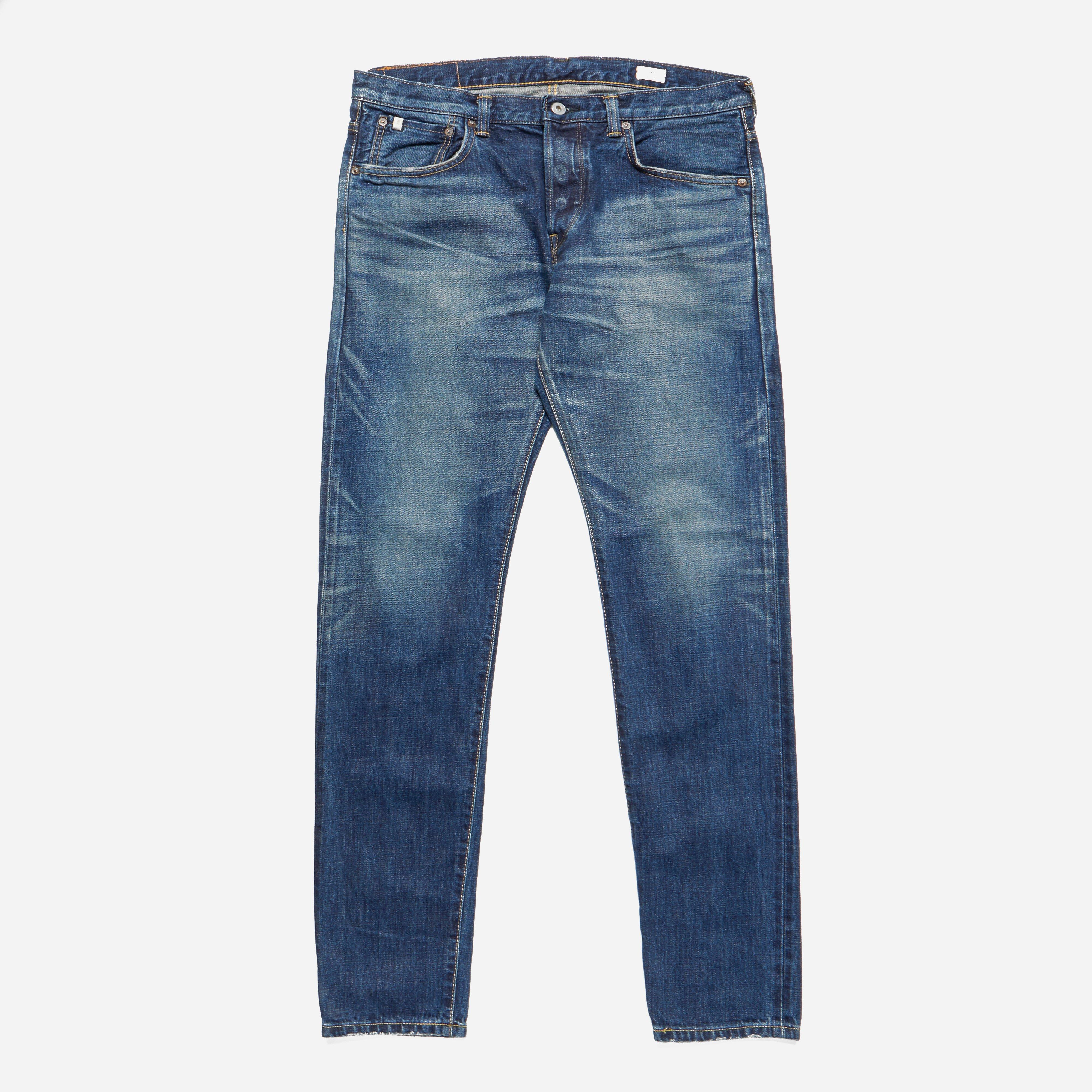 Edwin Classic Regular Tapered Rainbow Selvage Japan Denim Dark Used