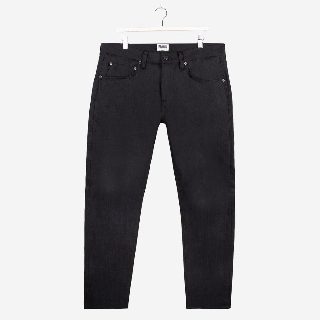 Edwin ED55 Relaxed Tapered White Listed 13oz Selvage Black