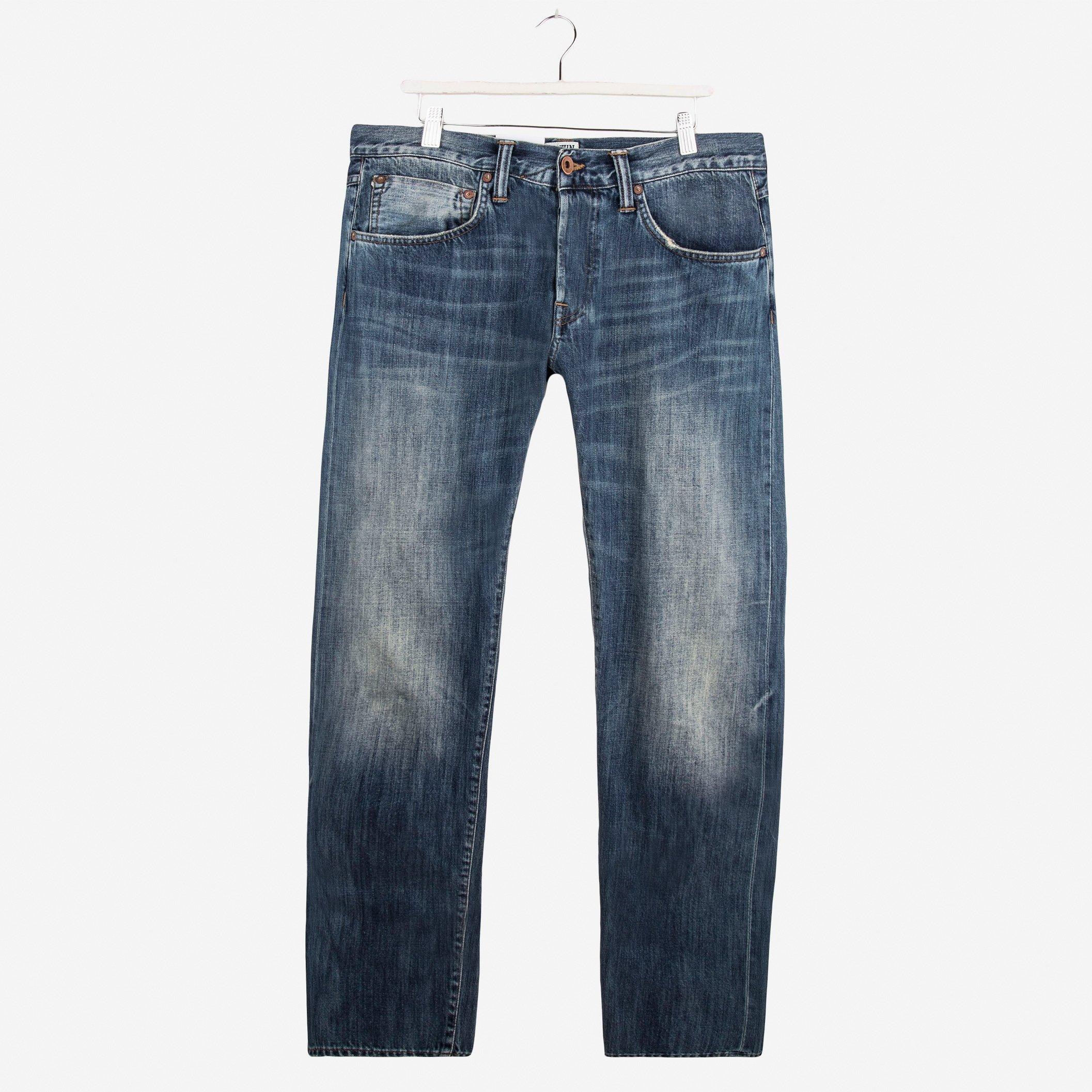 Edwin ED-55 Relaxed Tapered White Listed Denim Mid Sifted