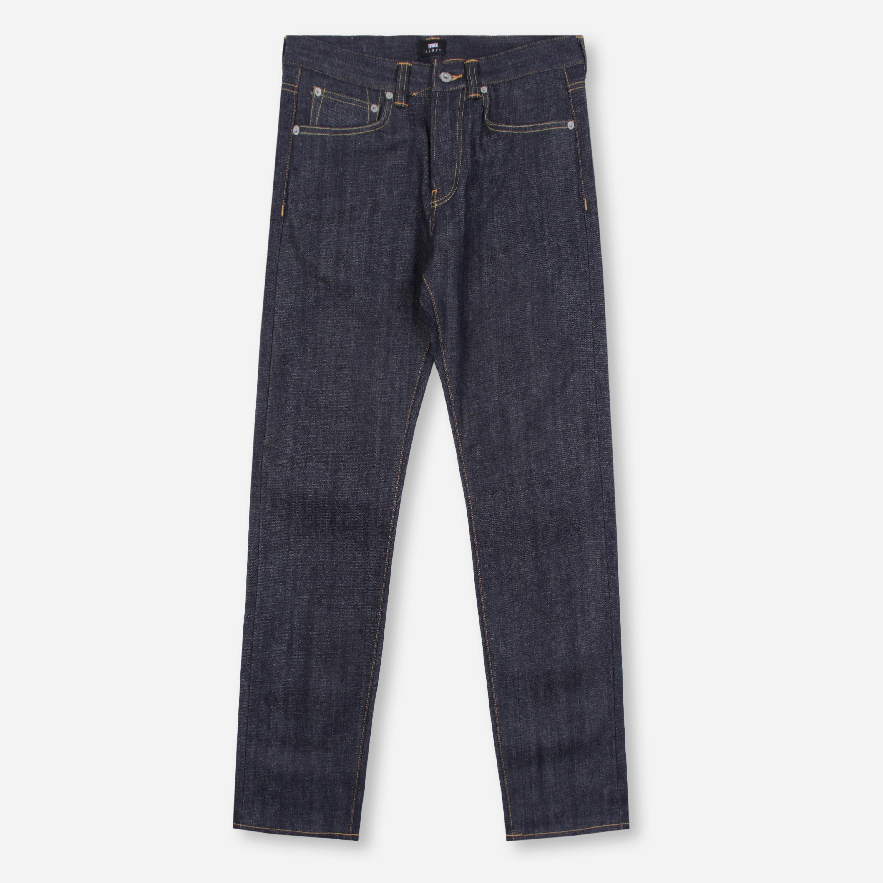 Edwin ED-80 Slim Red Listed 14oz Selvage Denim Unwashed