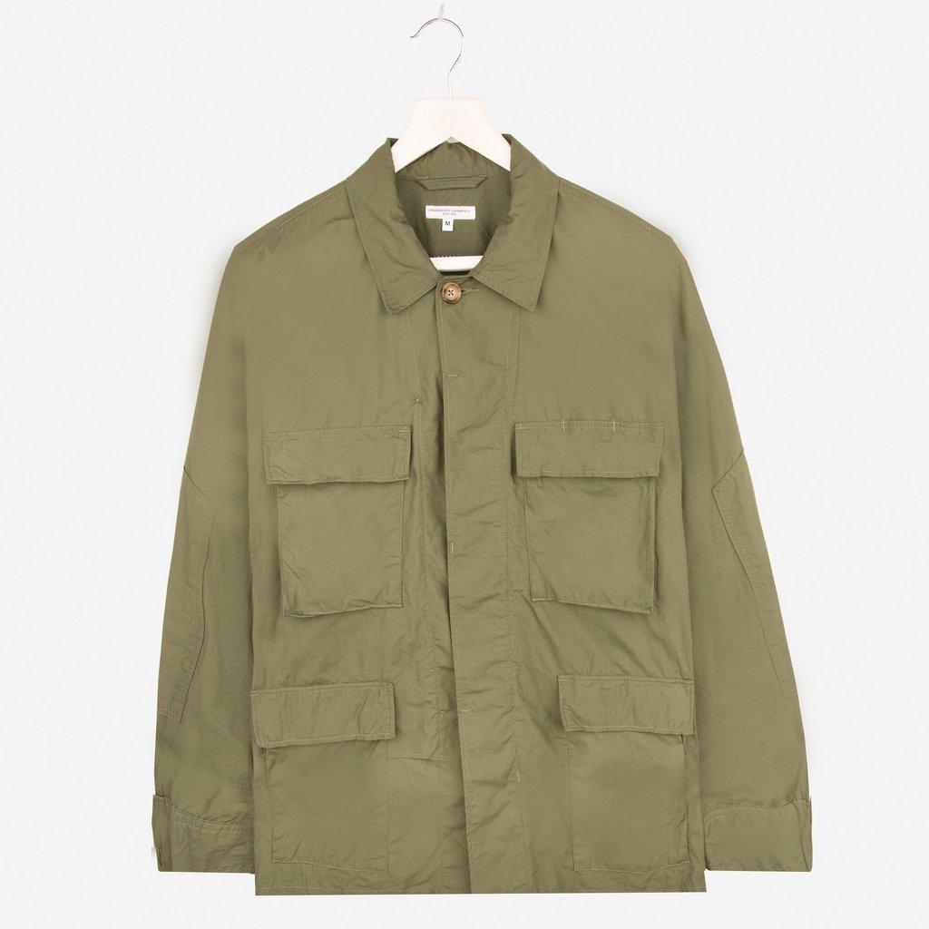 Engineered Garments BDU Jacket Olive High Count Broadcloth