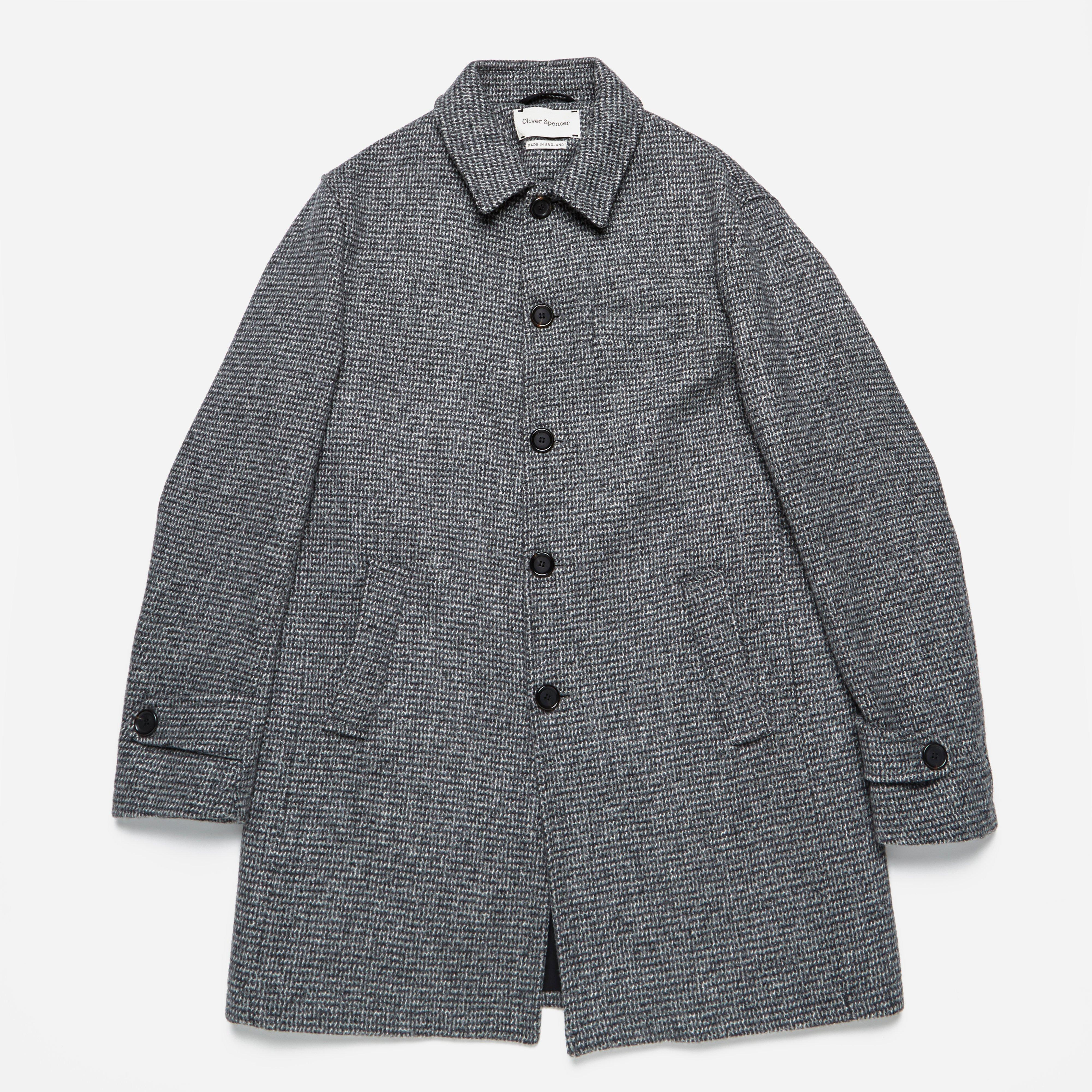 Oliver Spencer Grandpas Coat Belmont Grey