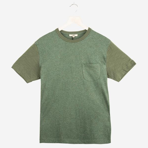YMC Contrast Sleeve Pocket Tee