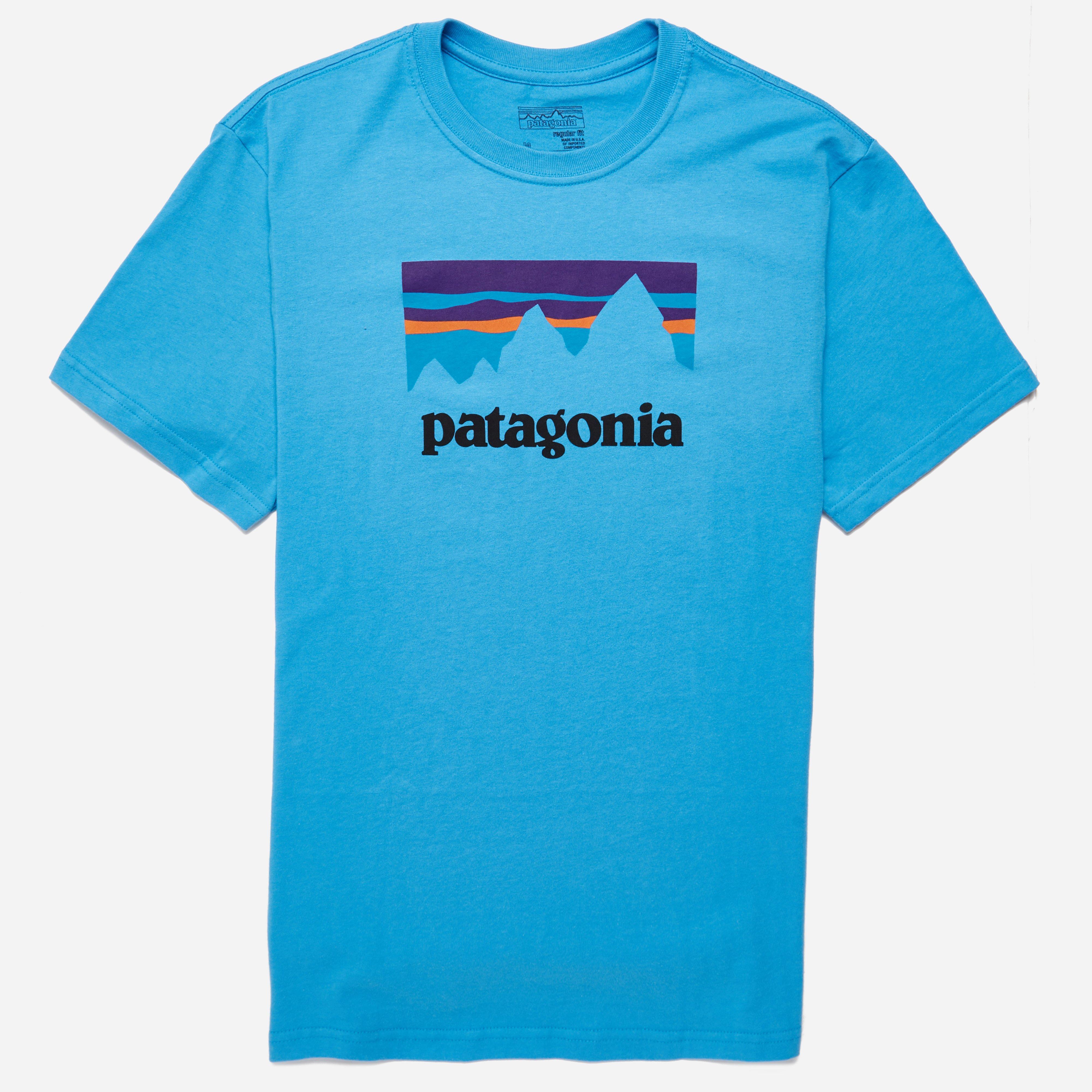 Patagonia Shop Sticker Cotton T-shirt