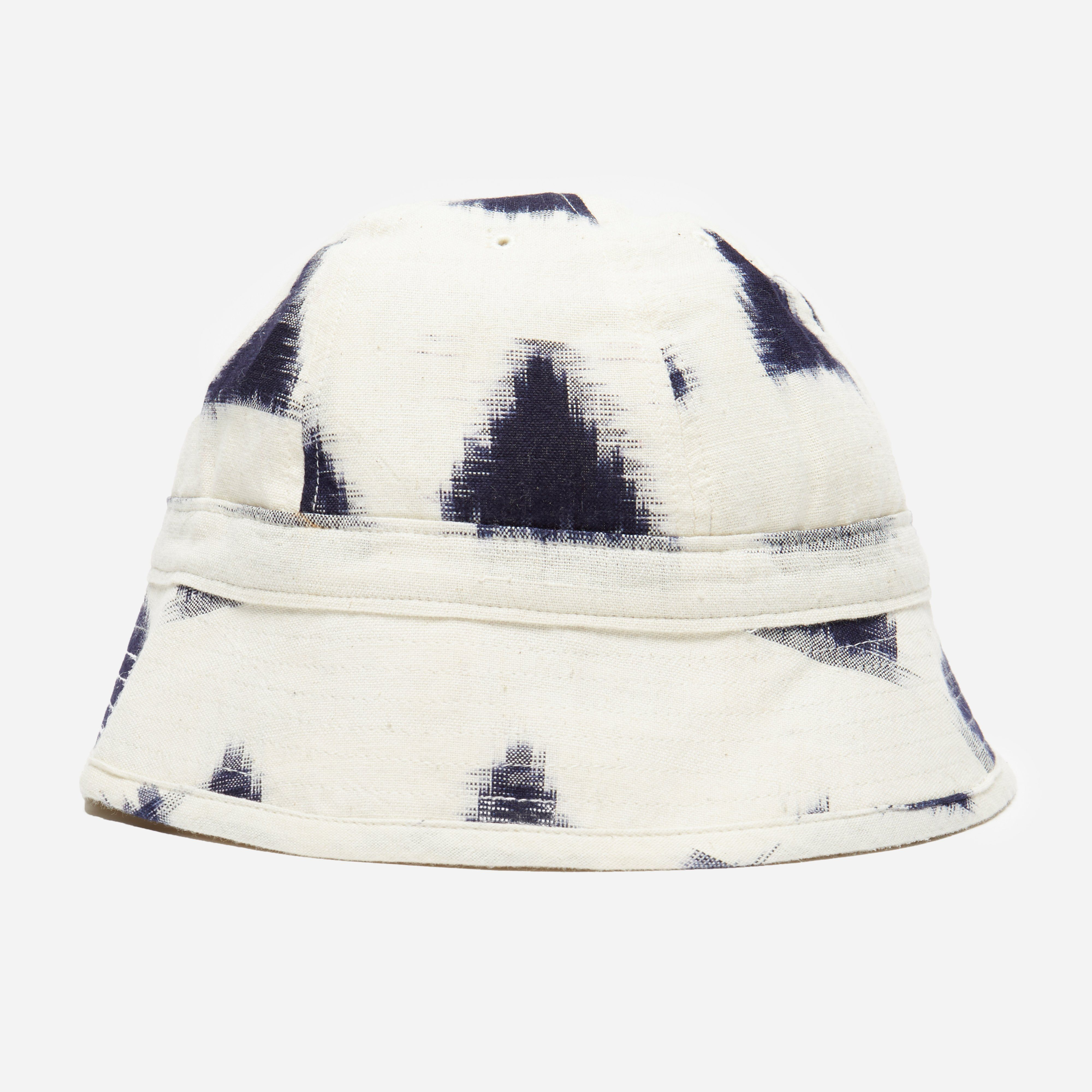 Universal Works Ikat Arrow Naval Bucket Hat