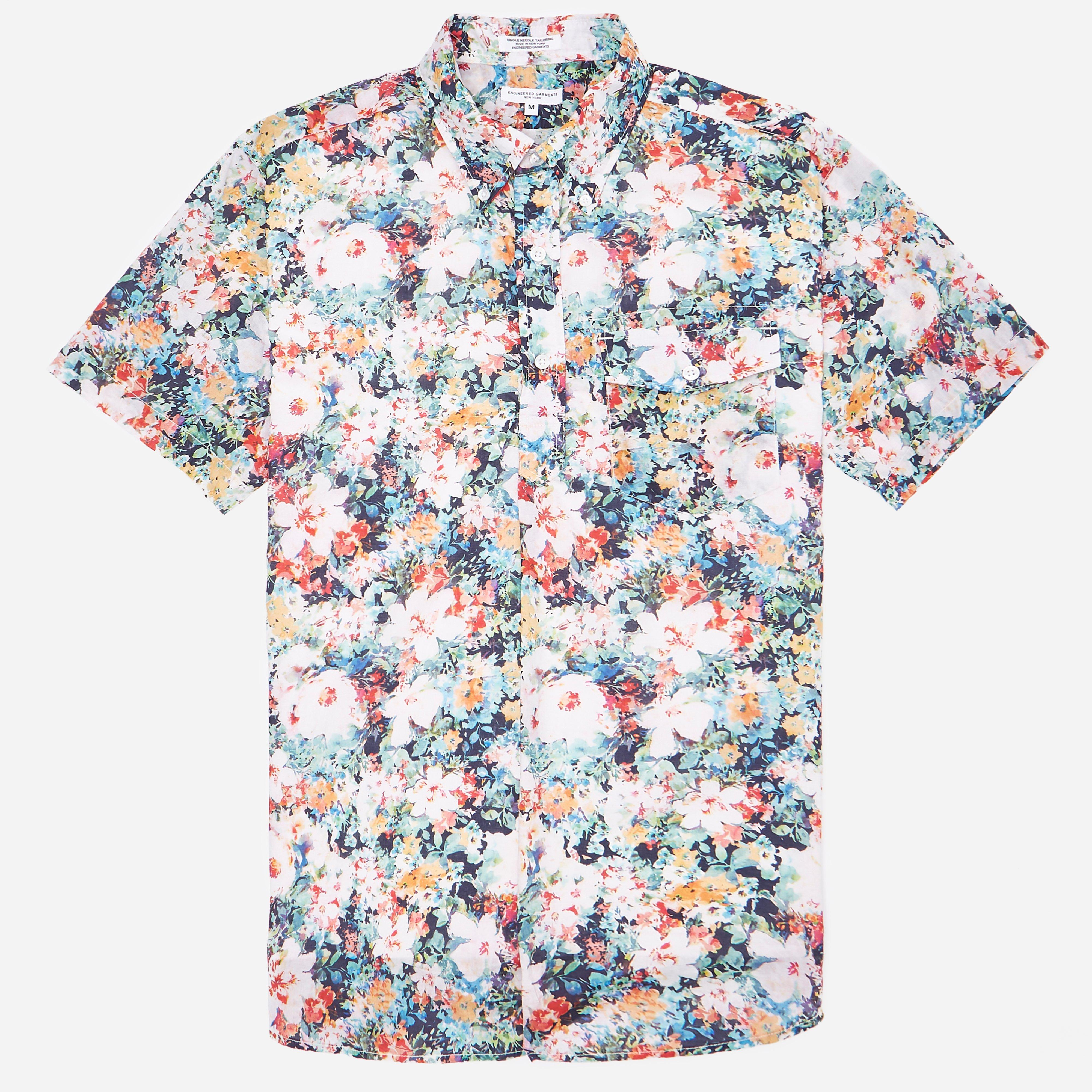 Engineered Garments Floral Popover Shirt