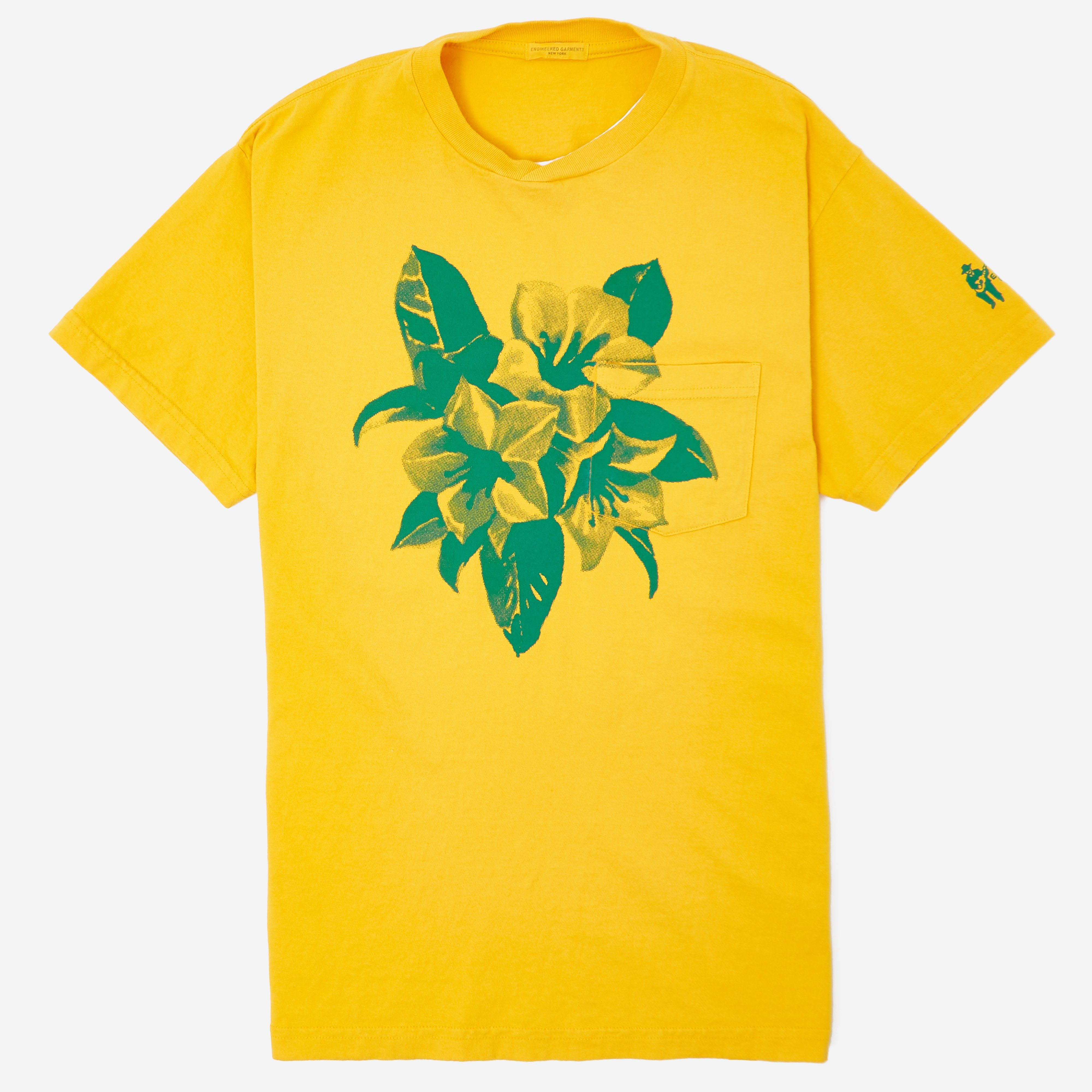 Engineered Garments Gold Floral Printed T-shirt