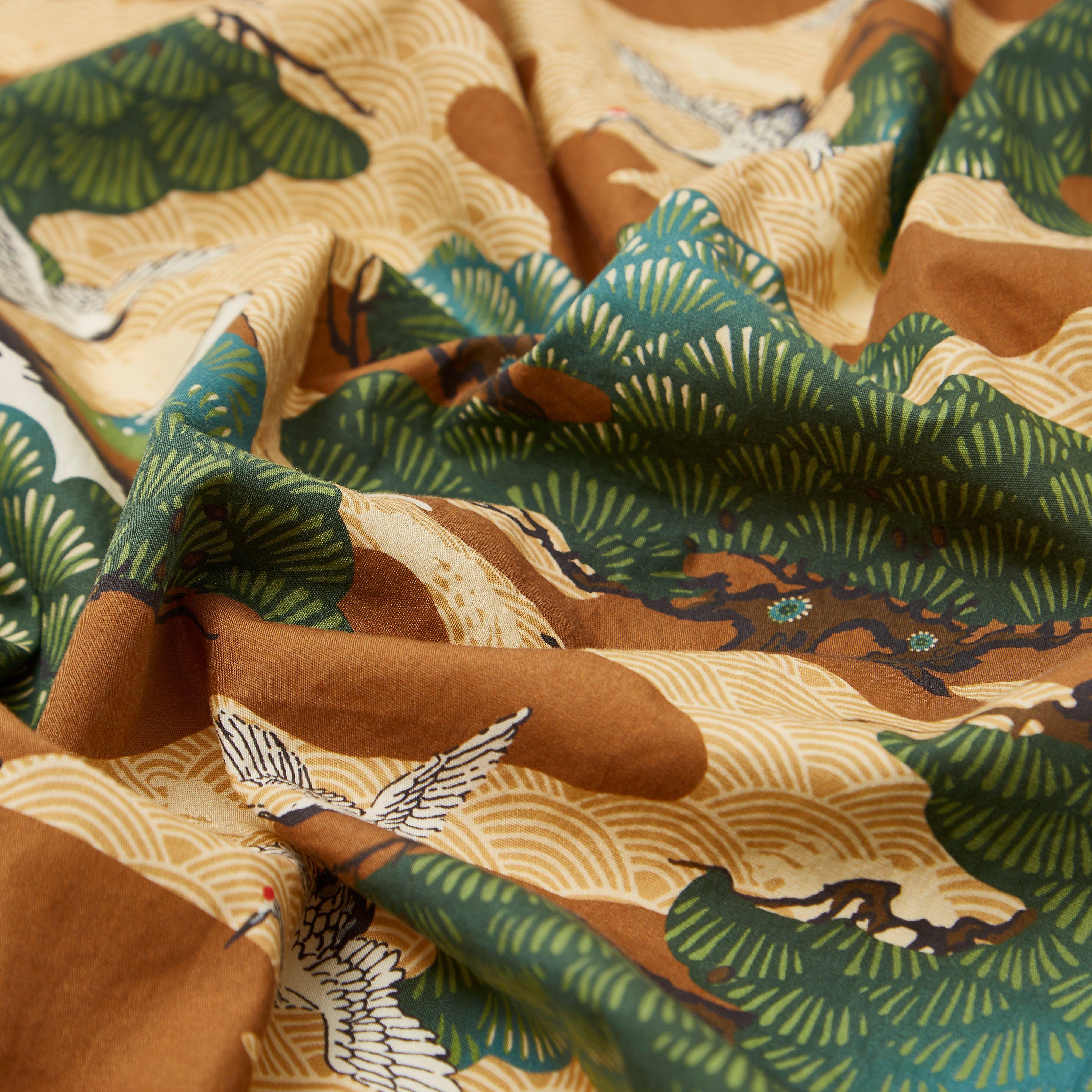 Gitman Vintage Fuji Crane Print Camp Shirt