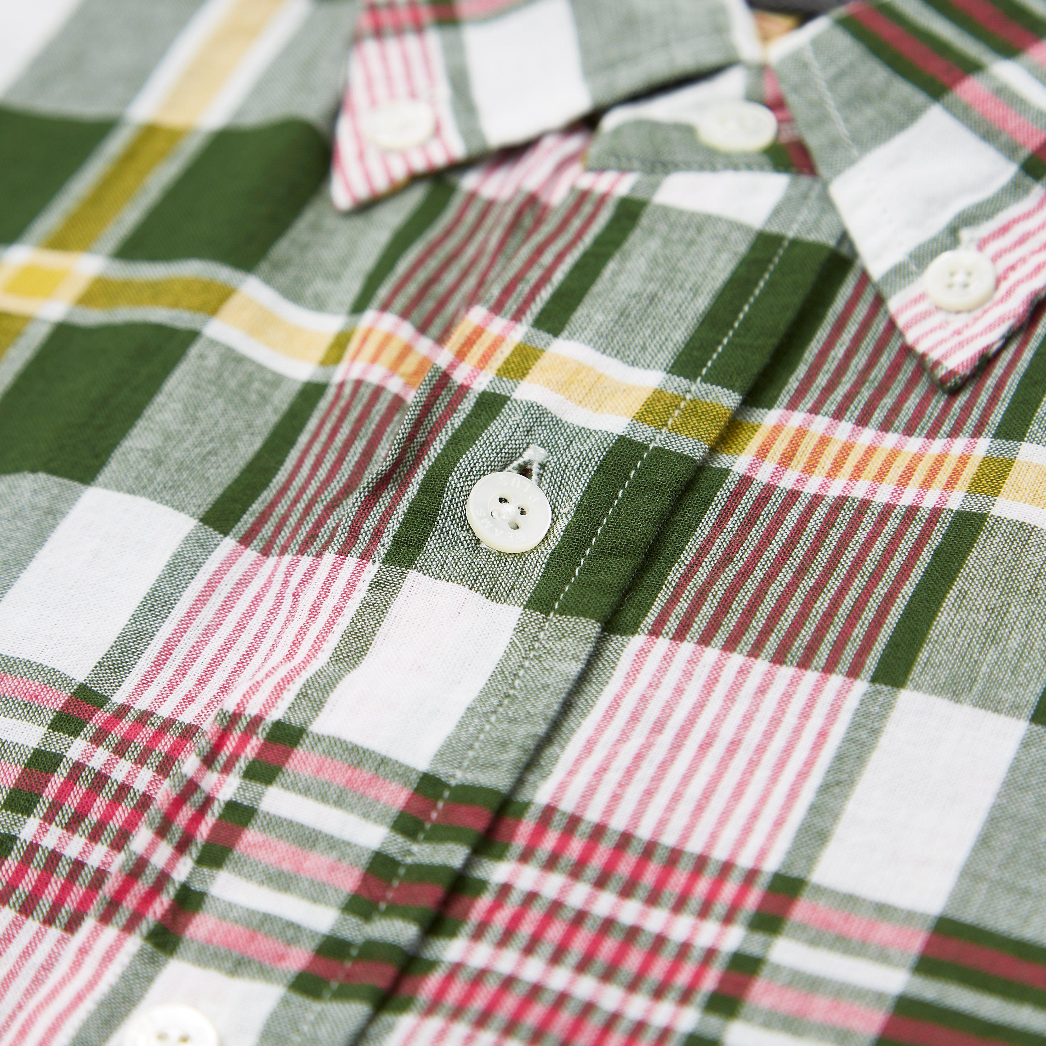 Beams Plus Short Sleeve Indian Madras Shirt