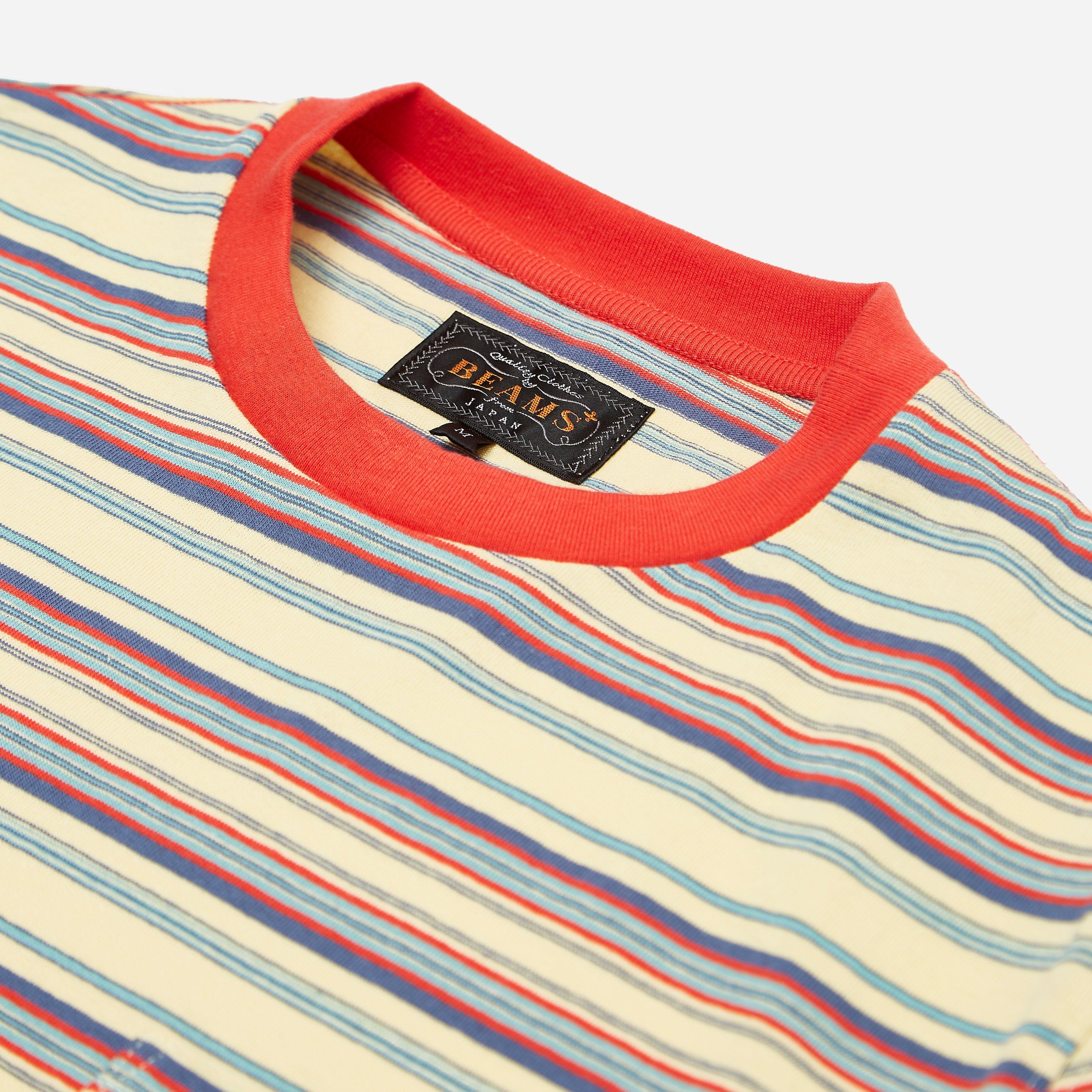Beams Plus Multi Border T-shirt