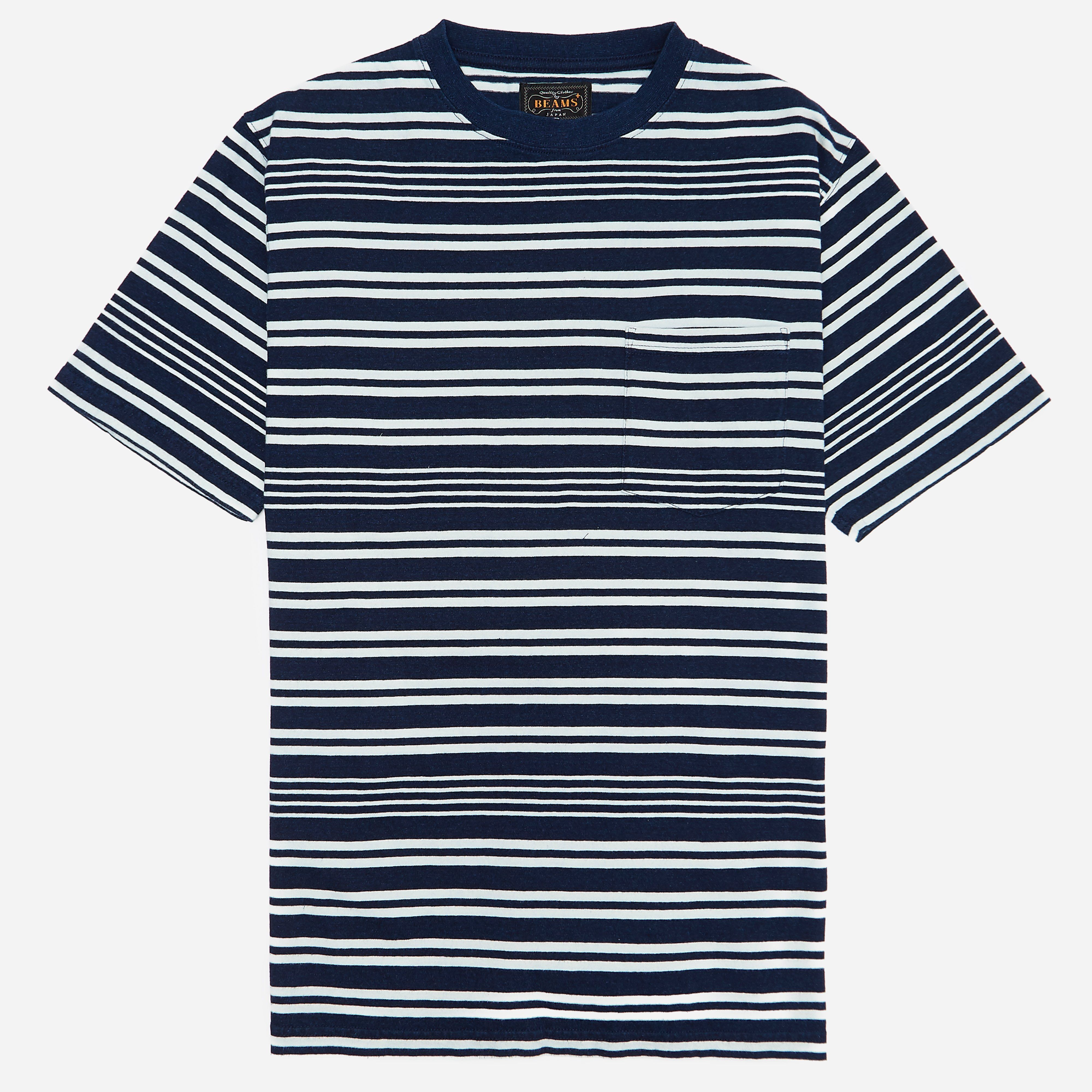 Beams Plus Indigo Border Pocket T-shirt