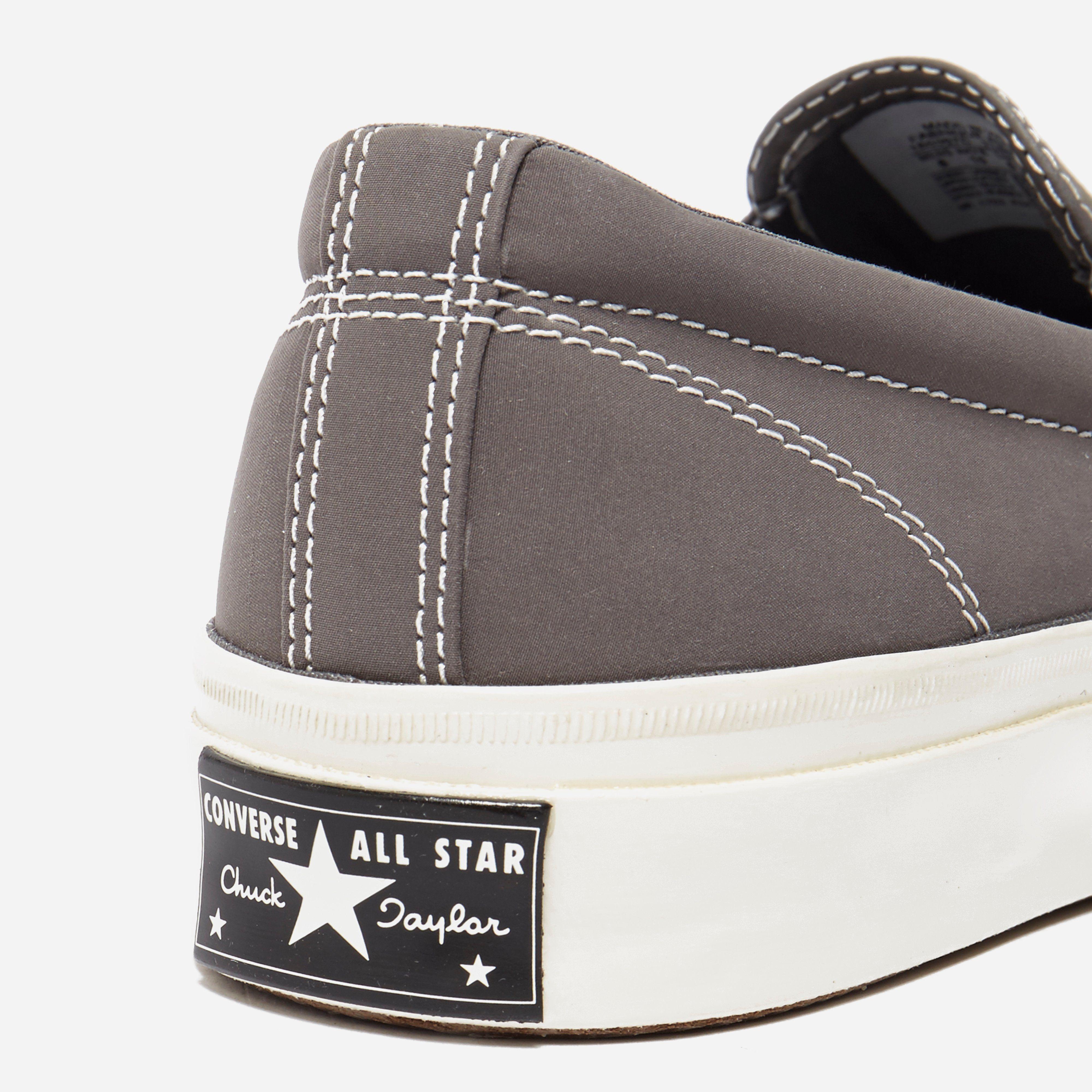 converse gray slip on r9q5  Converse All Star Deck Star 67 Slip On