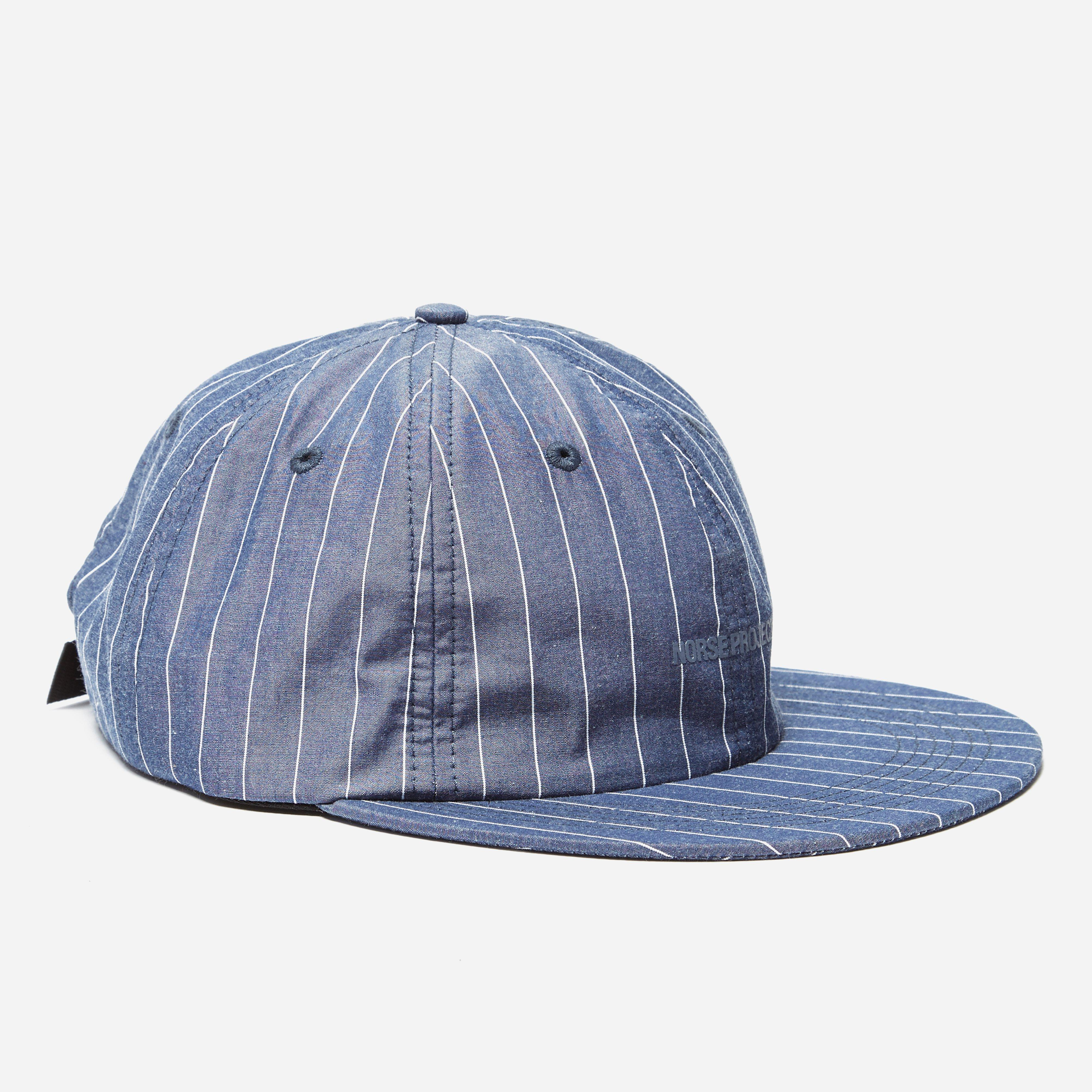 Norse Projects 6 Panel Fine Stripe Flat Cap