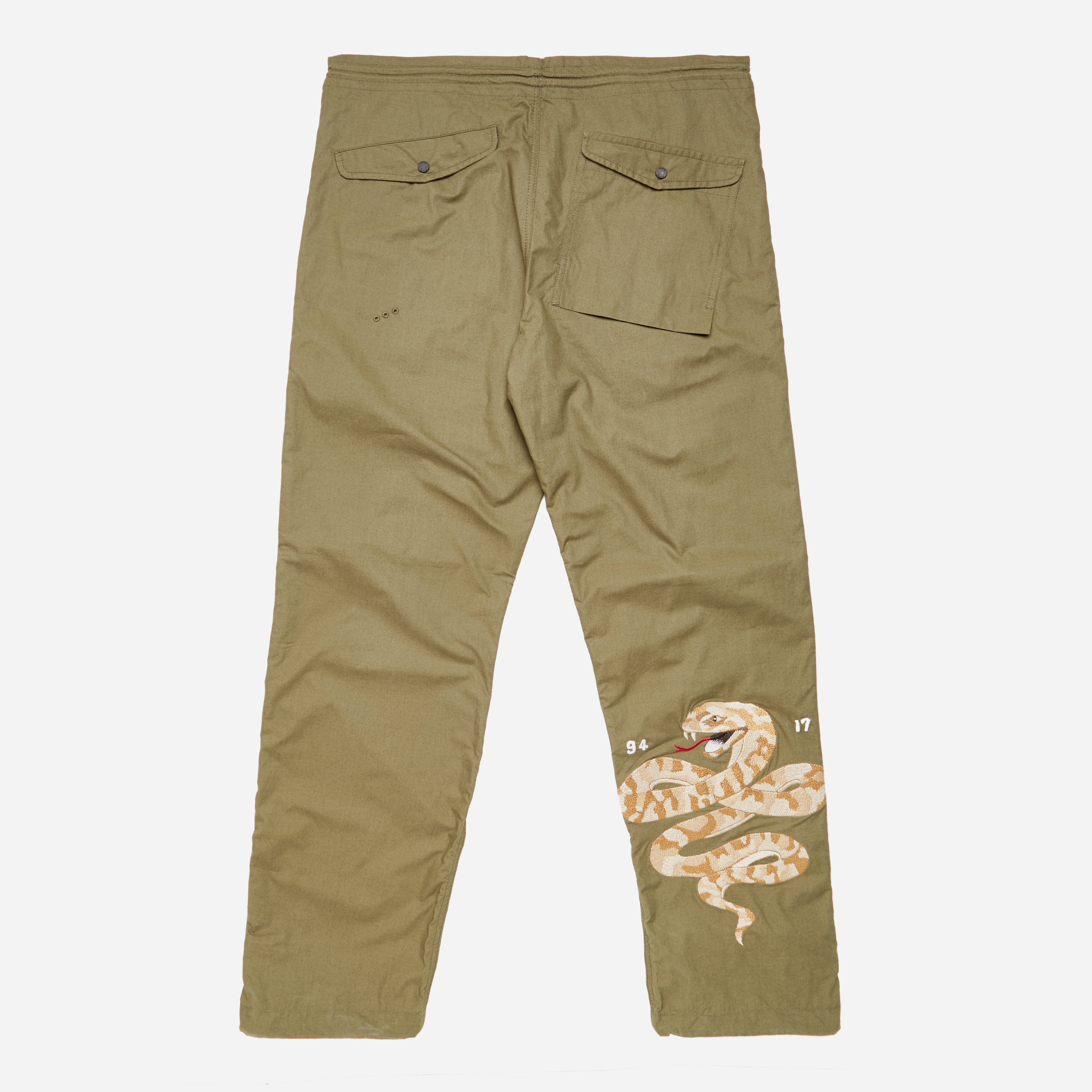 maharishi Madder Embroidered Straight Fit Pants