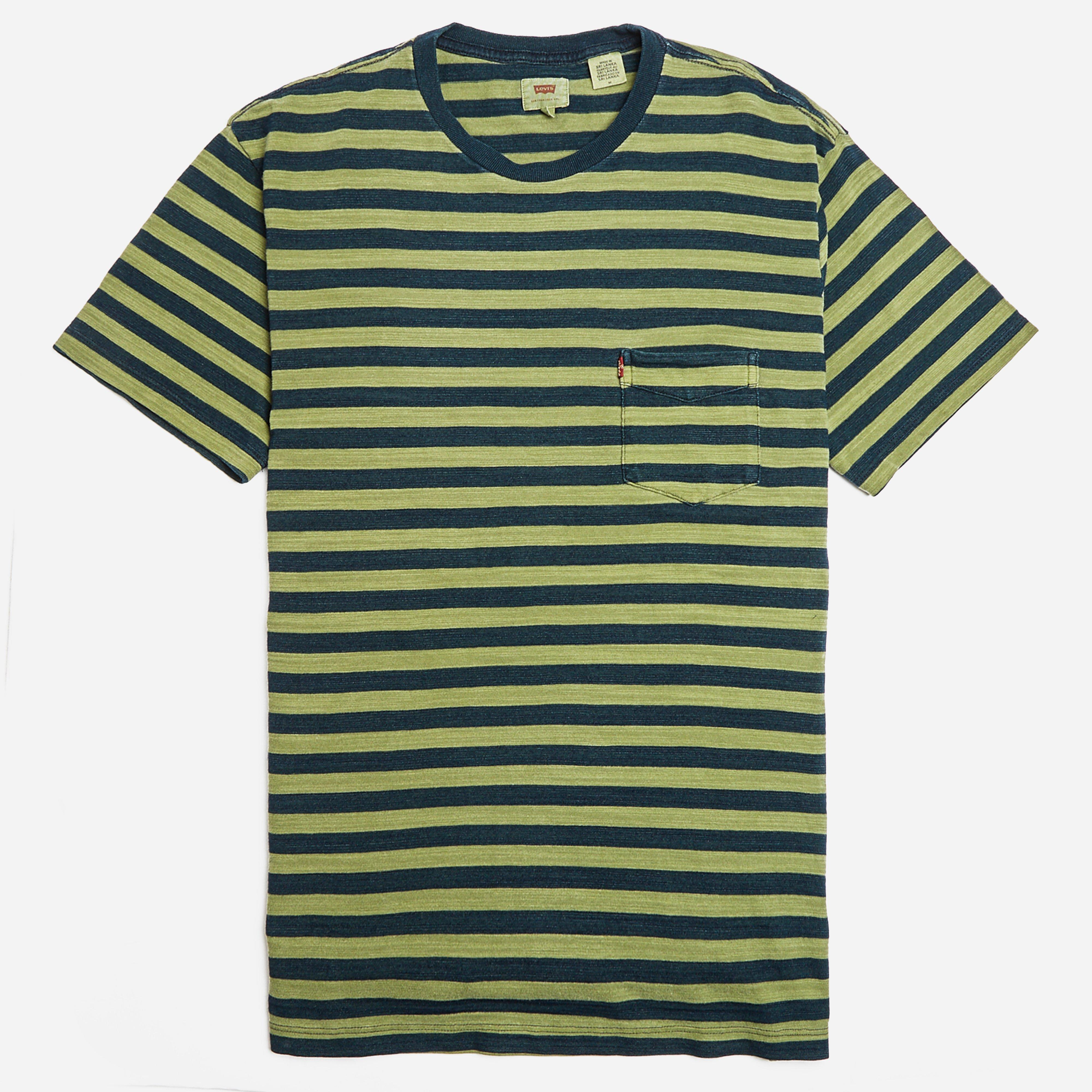 Levis Vintage Setin Sunset Half Stripe Pocket T-shirt