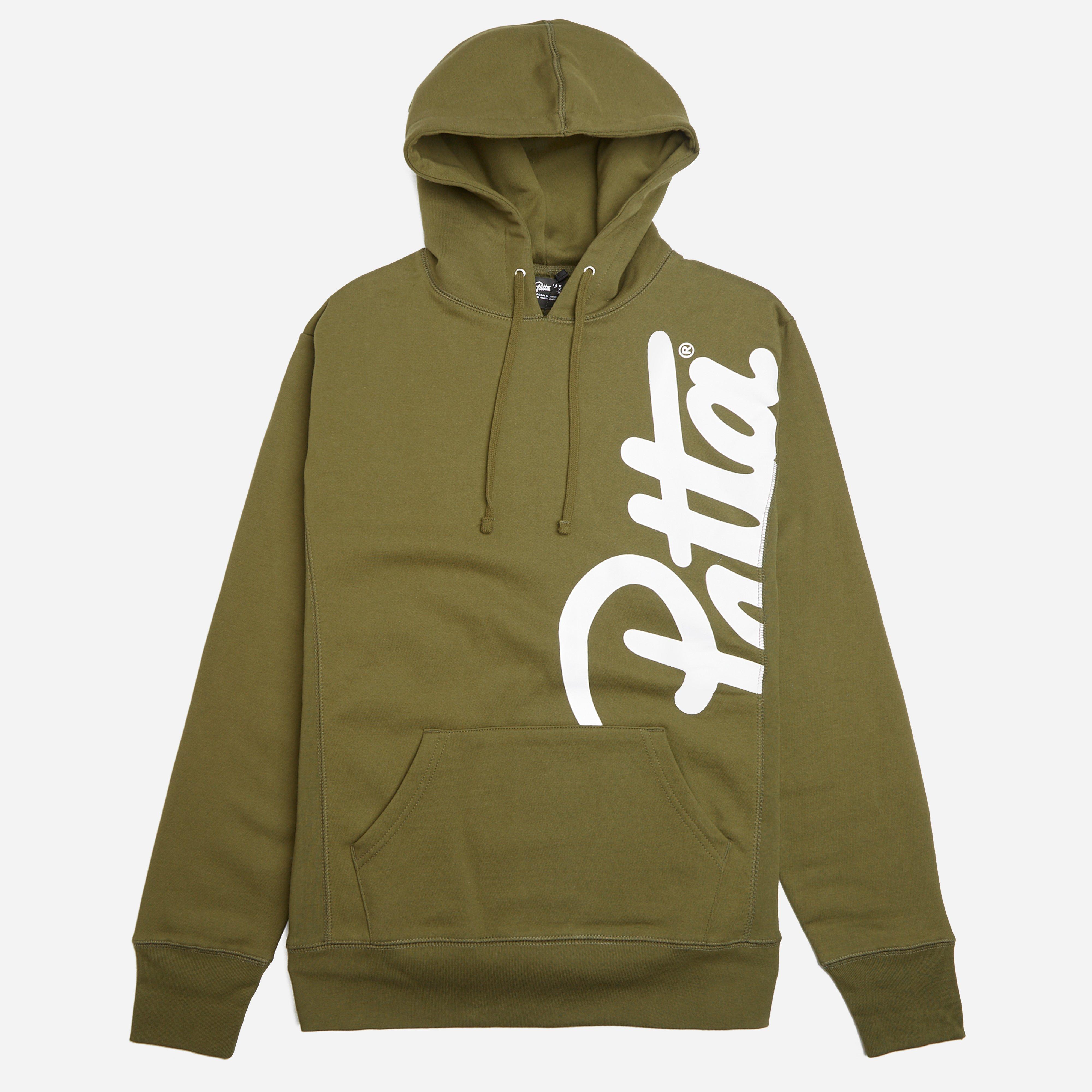 Patta Side Script Hooded Sweatshirt