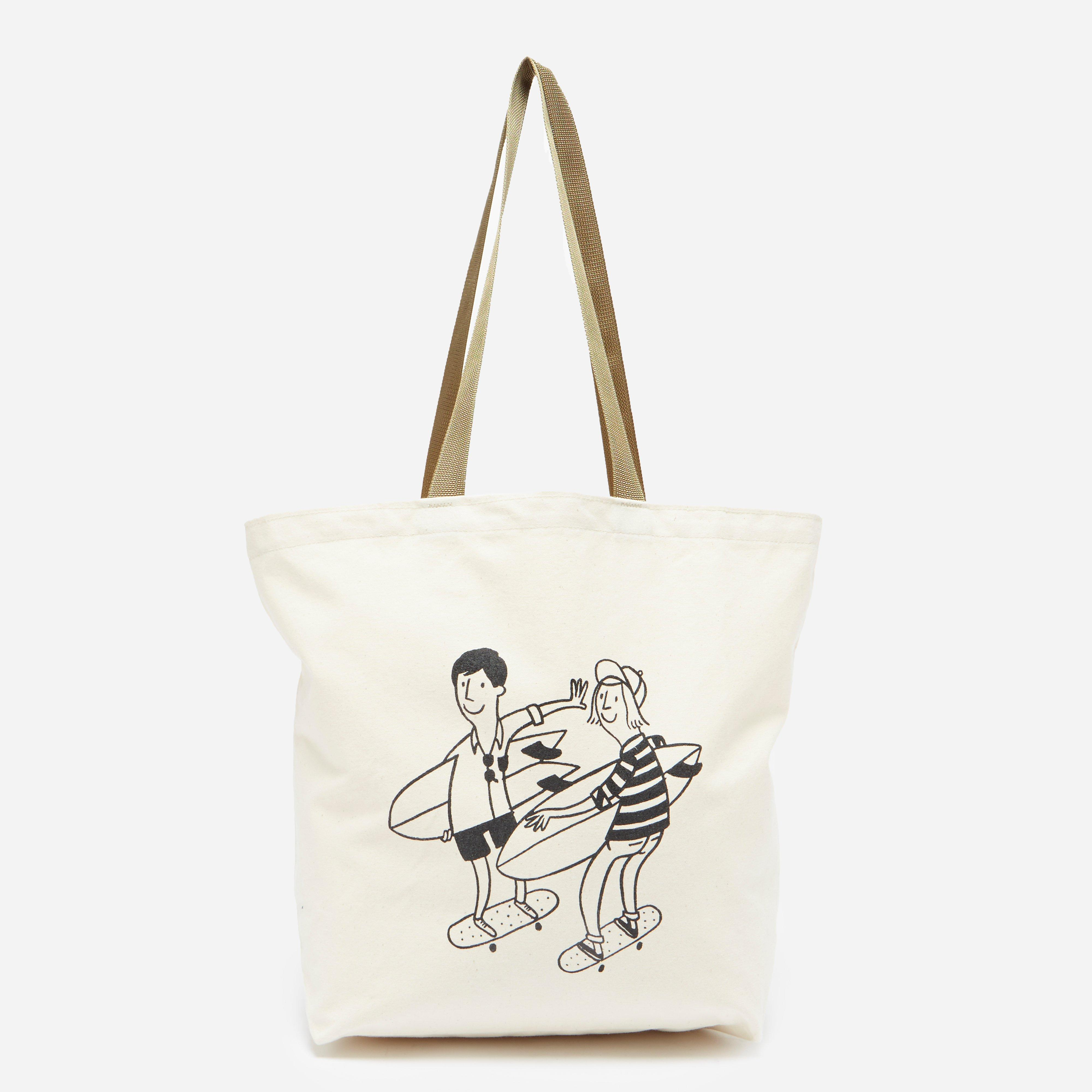 Battenwear Beach Run Canvas Tote Bag
