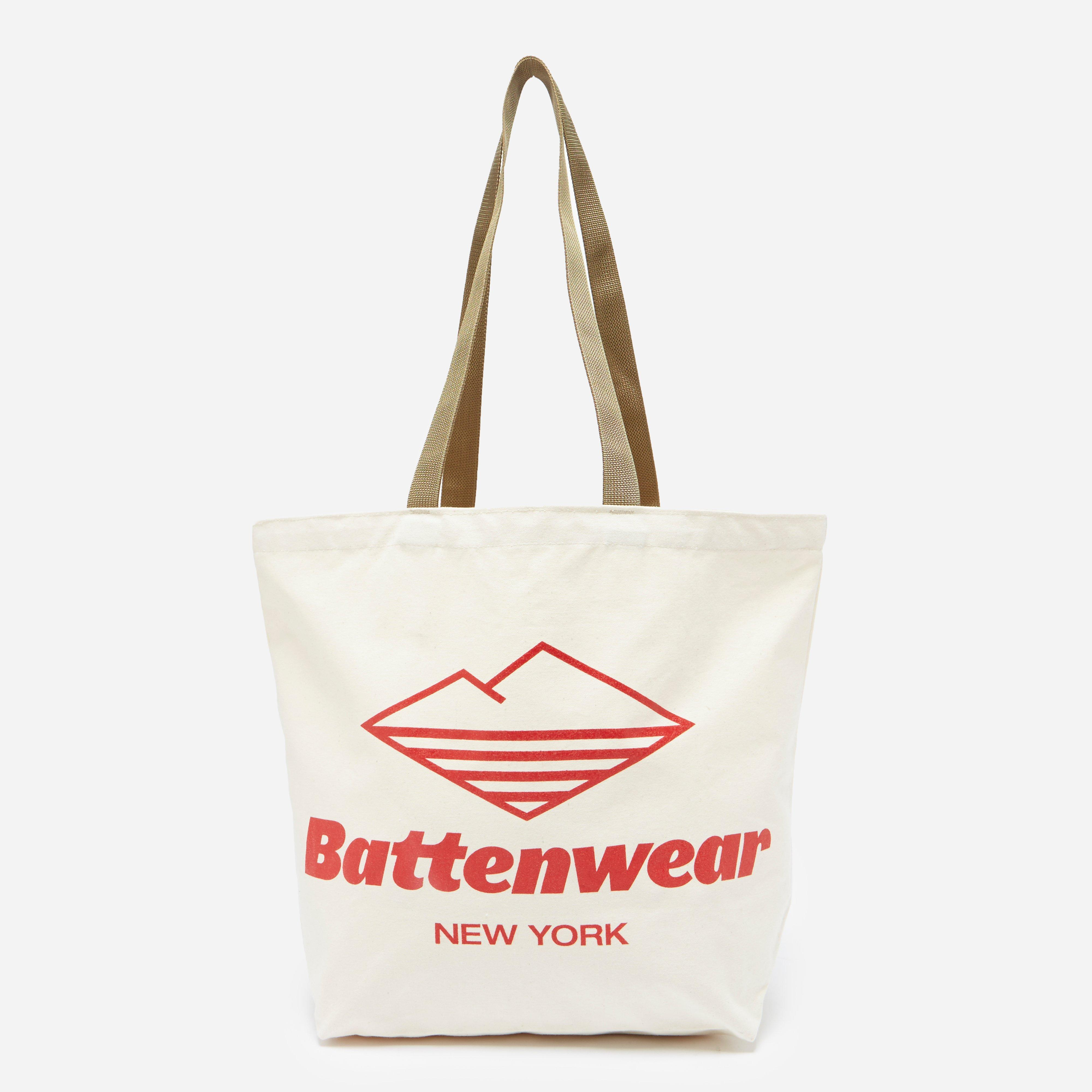 Battenwear Logo Print Canvas Tote Bag