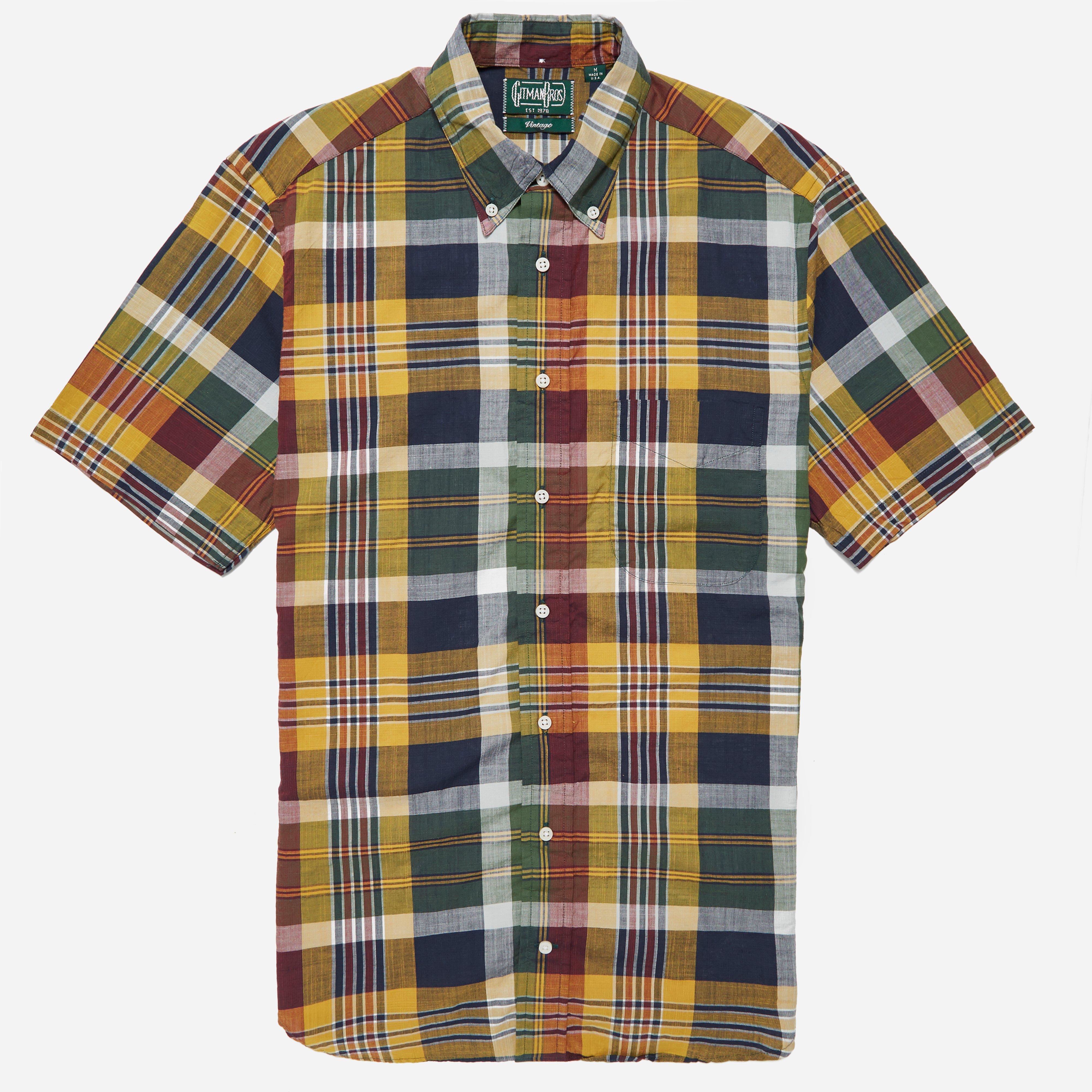 Gitman Vintage Short Sleeve Madras BD Shirt