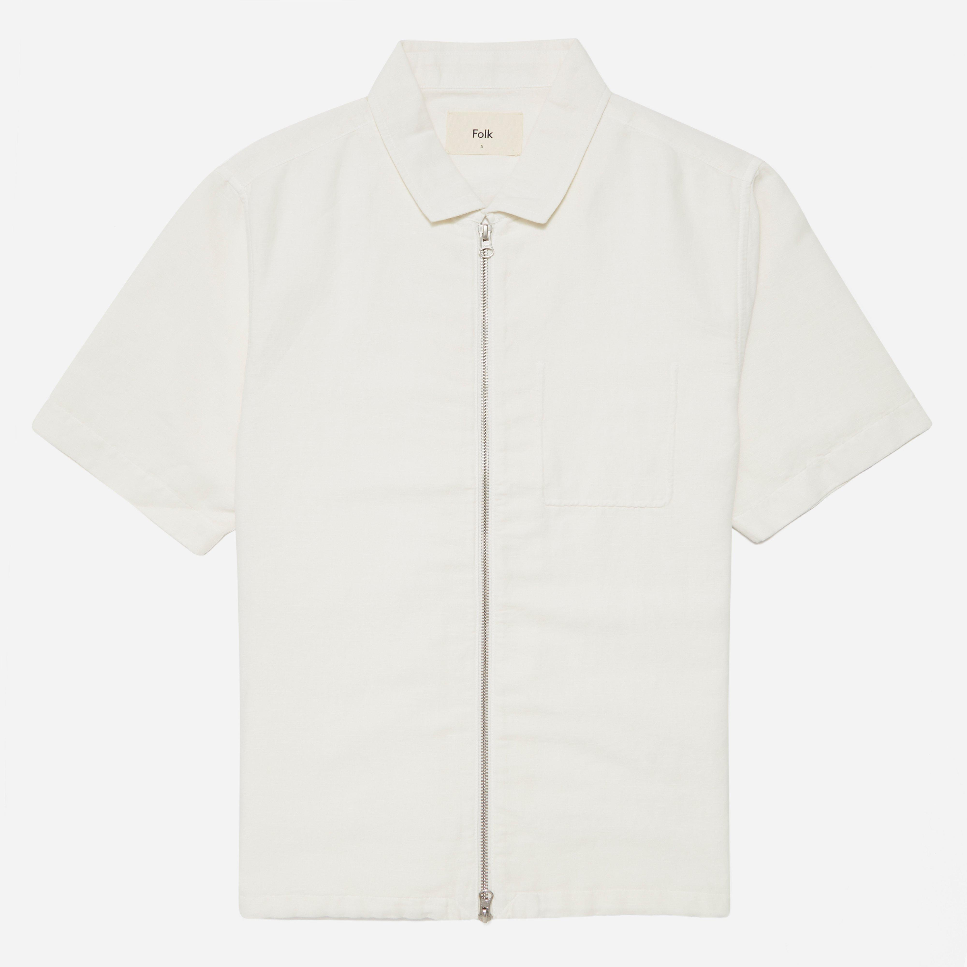 Folk Linen Zip Shirt